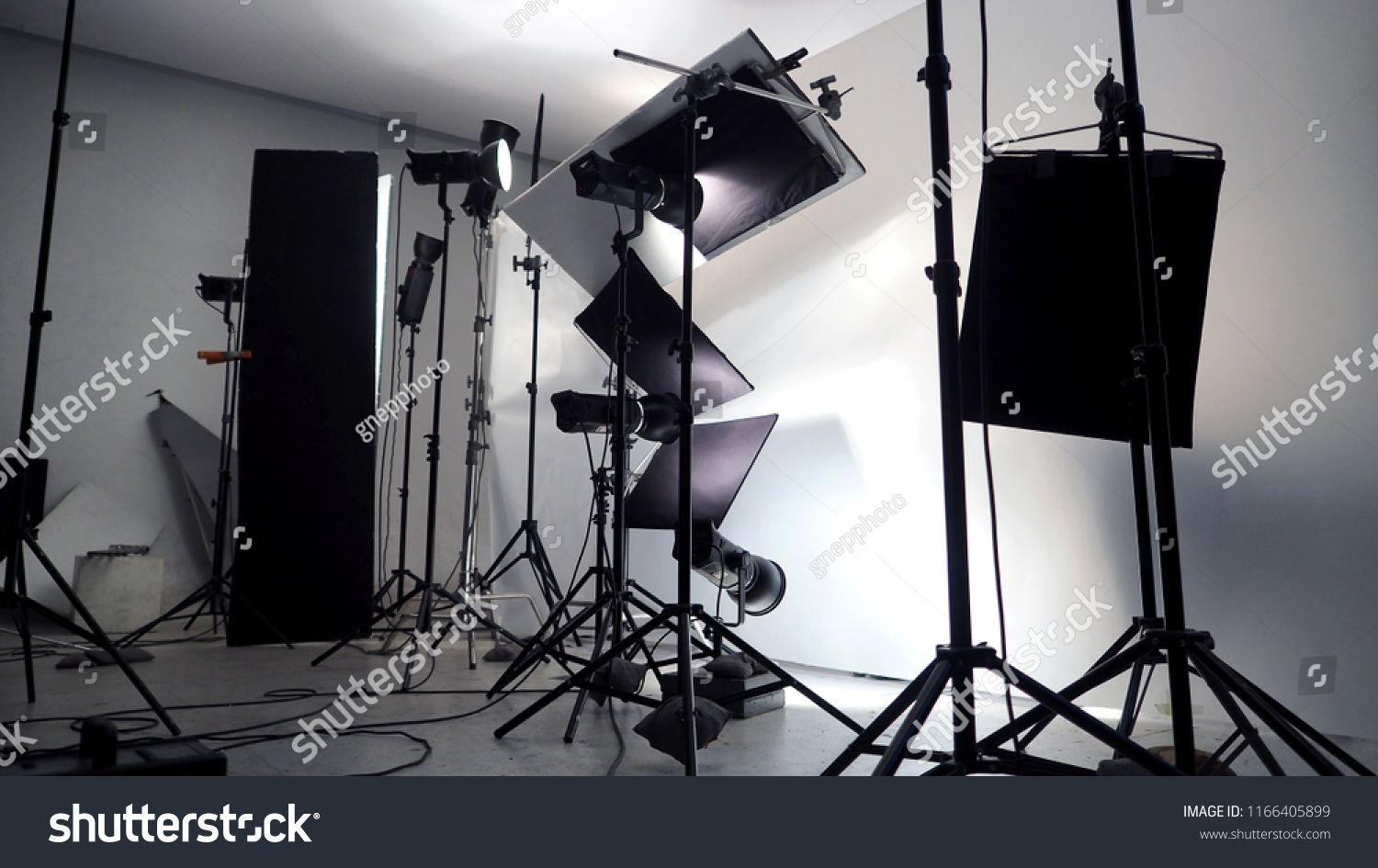 Lighting Setup Studio Commercial Works Such Stockfoto Jetzt