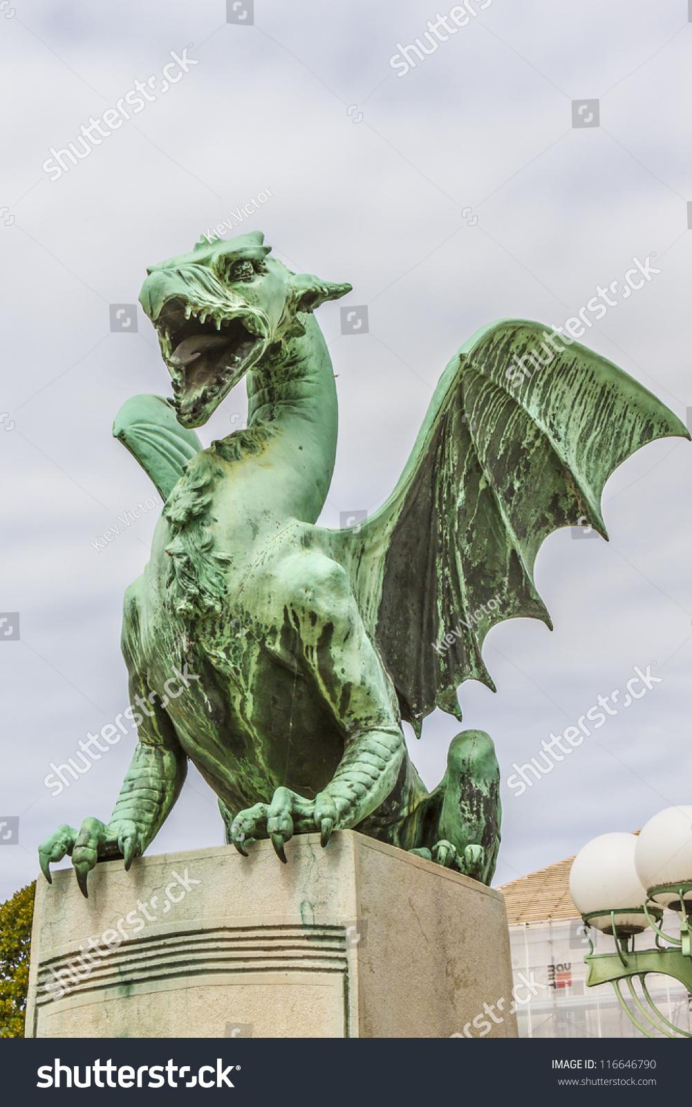 Royalty free green dragon symbol of the slovenian 116646790 green dragon symbol of the slovenian capital city on the dragon bridge ljubljana biocorpaavc Image collections