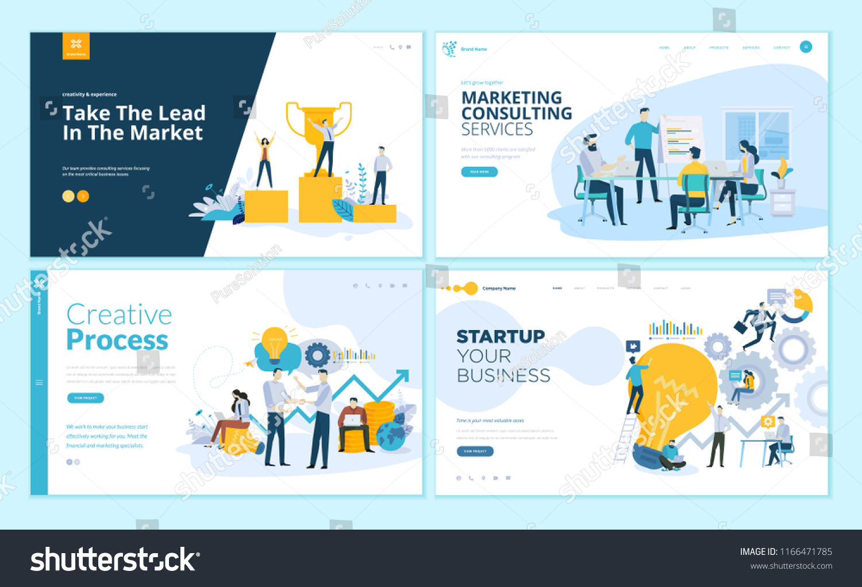 set web page design templates creative のベクター画像素材