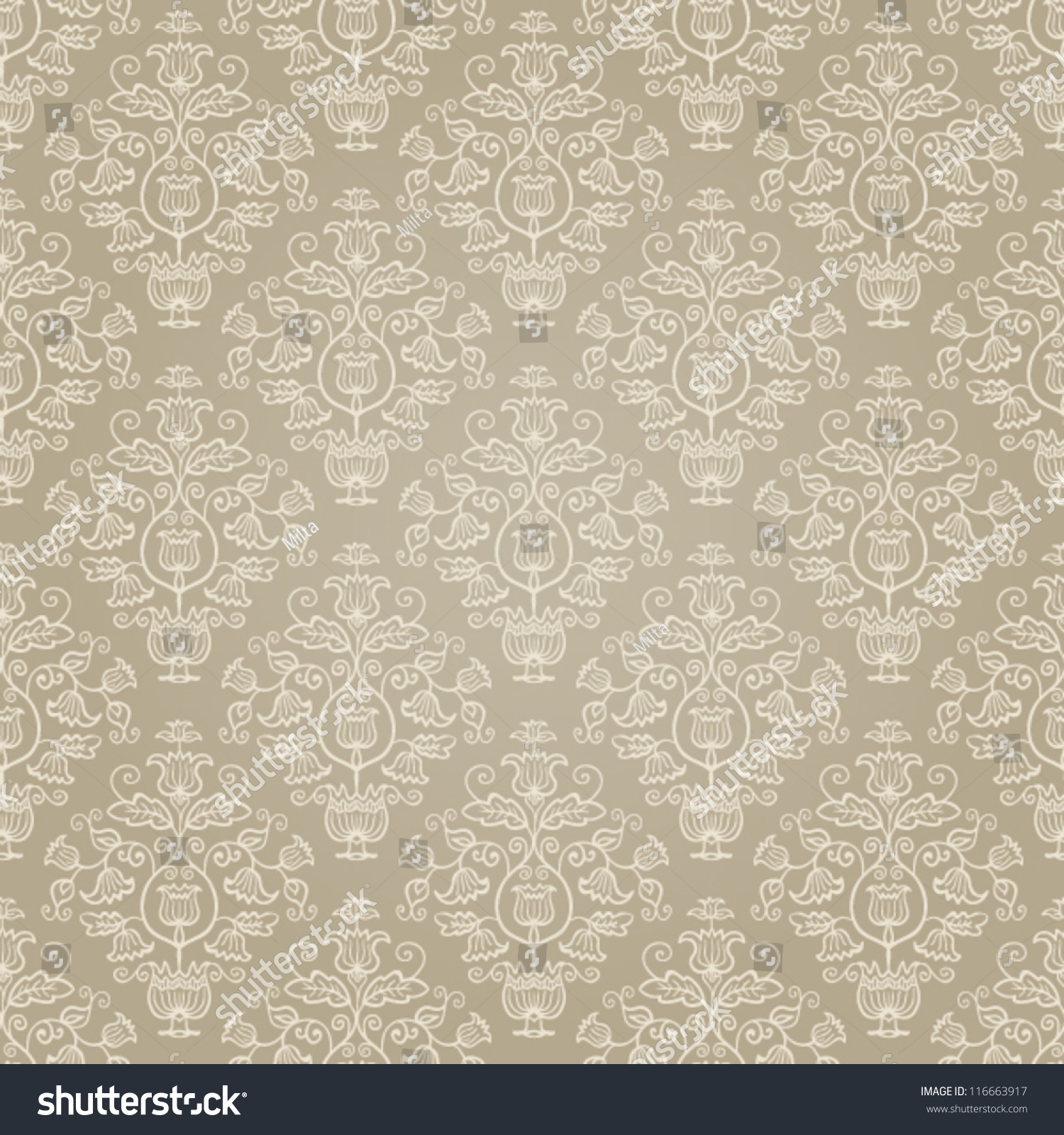 Seamless damask texture pattern  Seamless pattern can be used for wallpaper   pattern fills. Seamless Damask Texture Pattern Seamless Pattern Stock Vector
