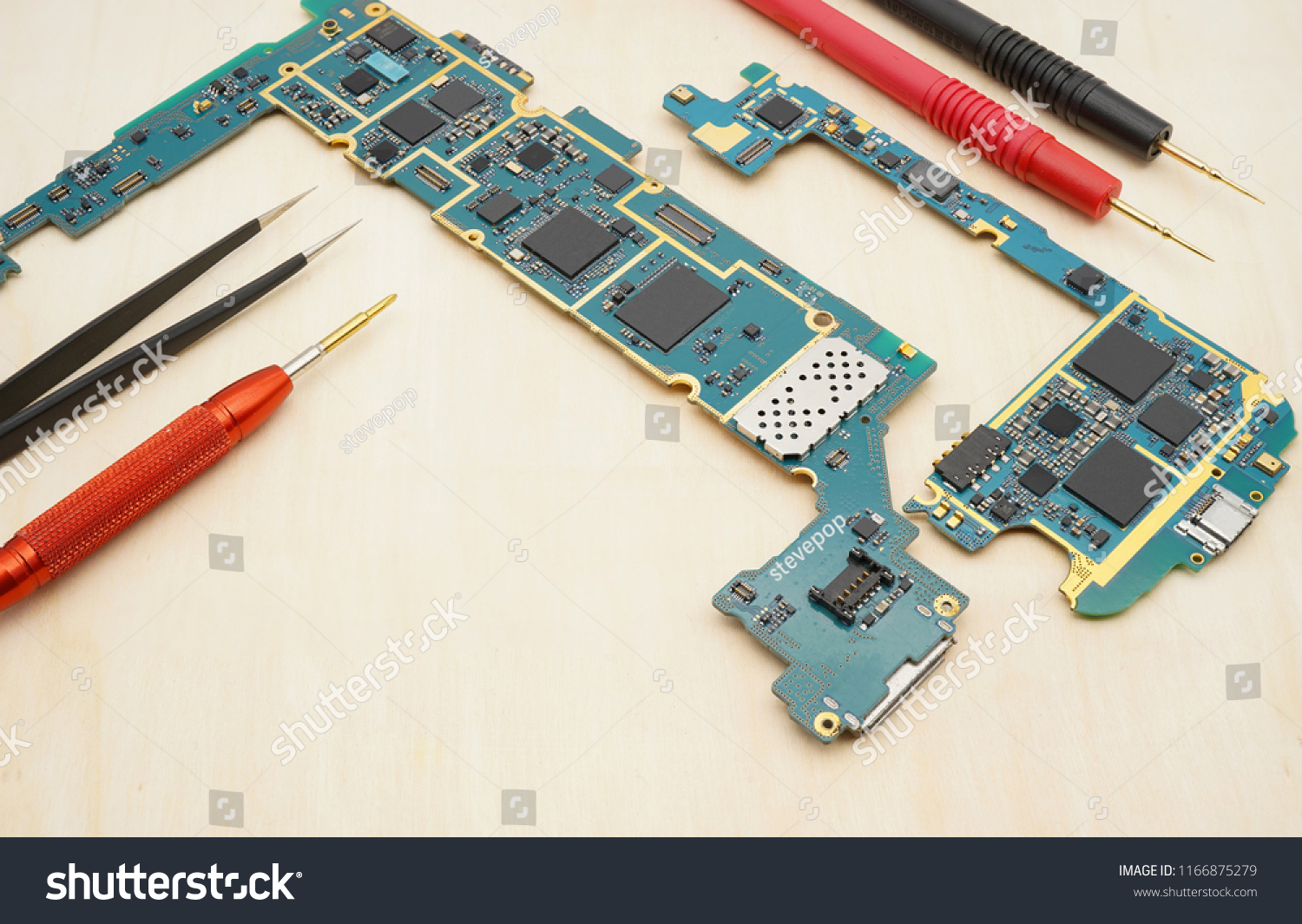 Repair Cell Phone Preparing Circuit Stock Photo Edit Now Board For Of And Tablet