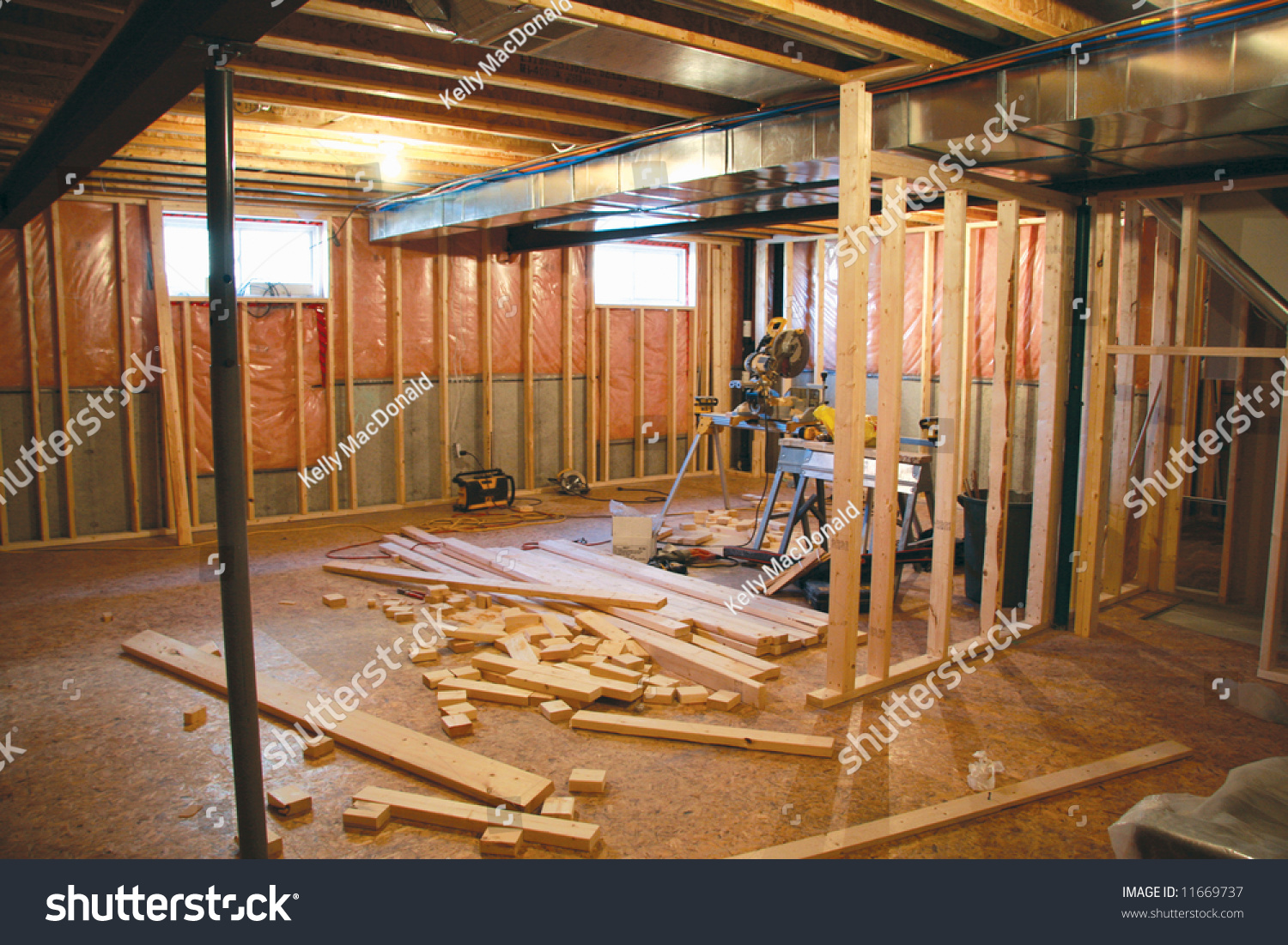 Basement Renovation Stock Photo 11669737Shutterstock