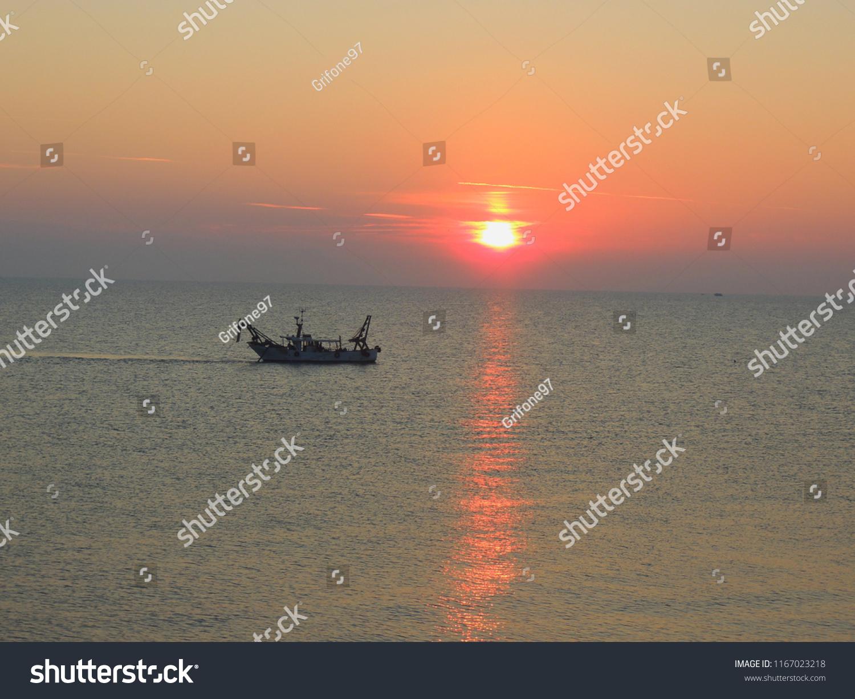 Sunrise over the Adriatic Sea.