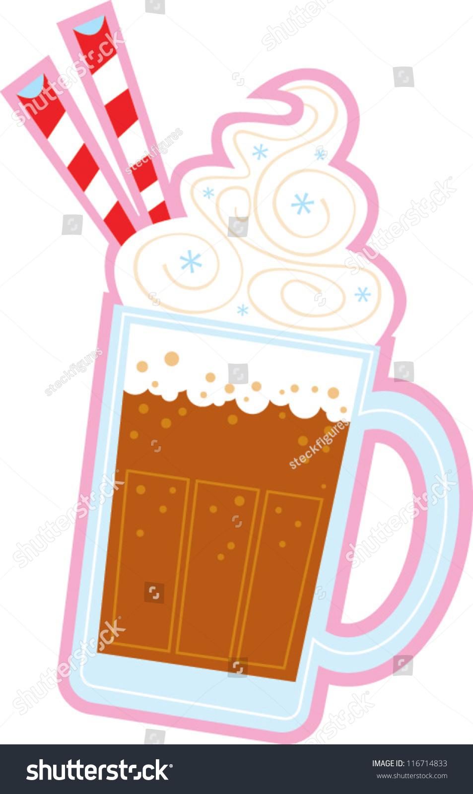 Root Beer Float Stock Vector 116714833 Shutterstock