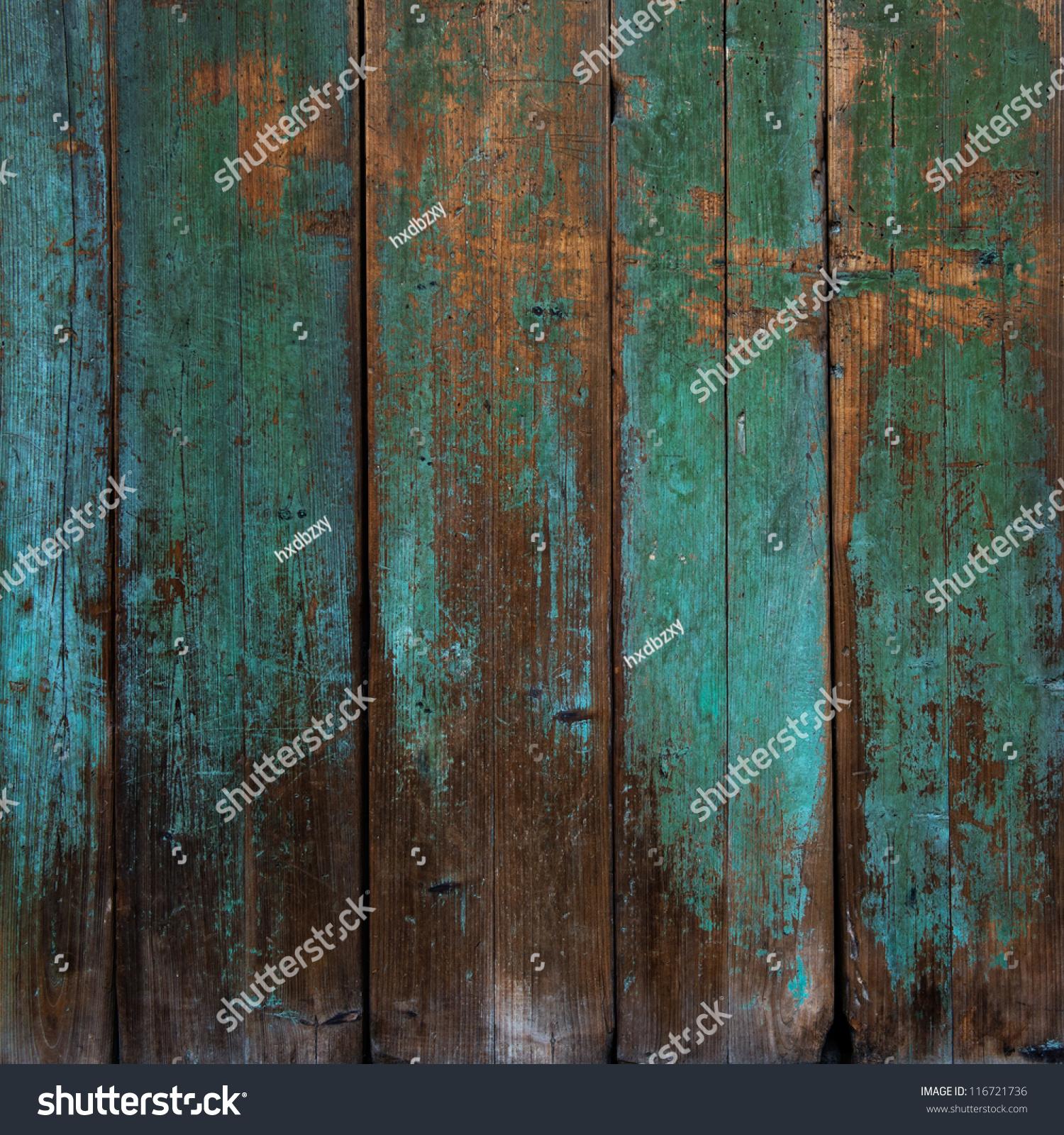 Old grunge wood panels used background stock photo