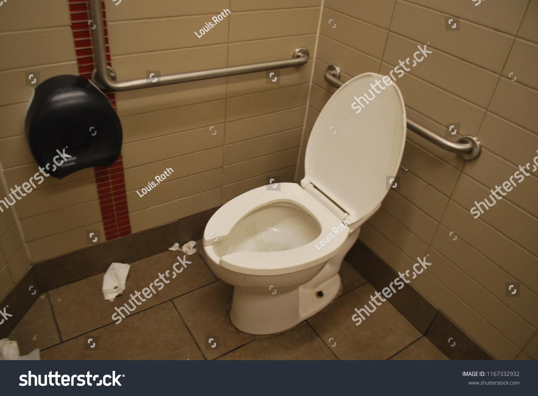 Public Restroom Dirty Toilet Washroom July Stock Photo (Edit Now ...