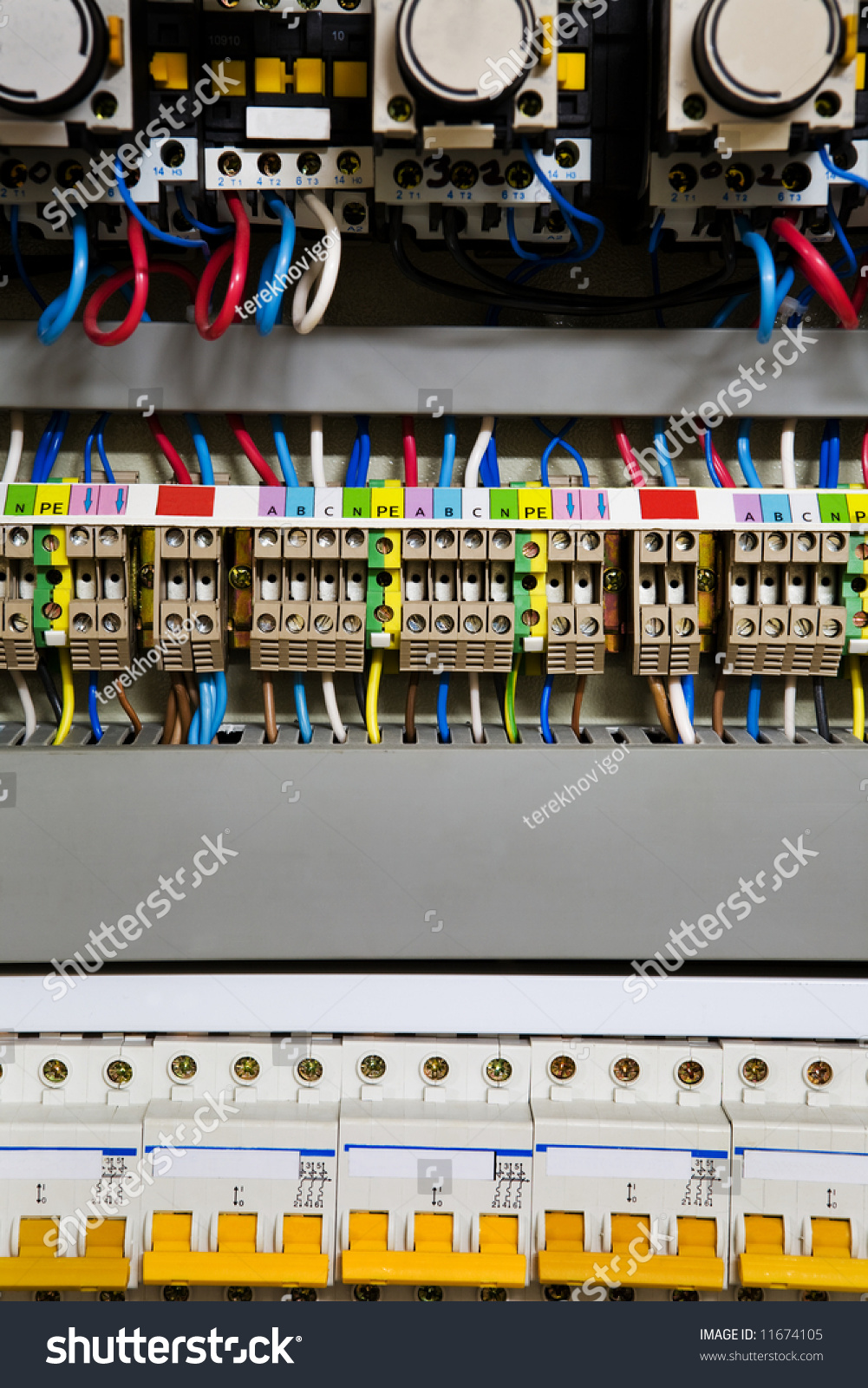 Color Wires Box Distribution Electricity Stock Photo (Edit Now ...