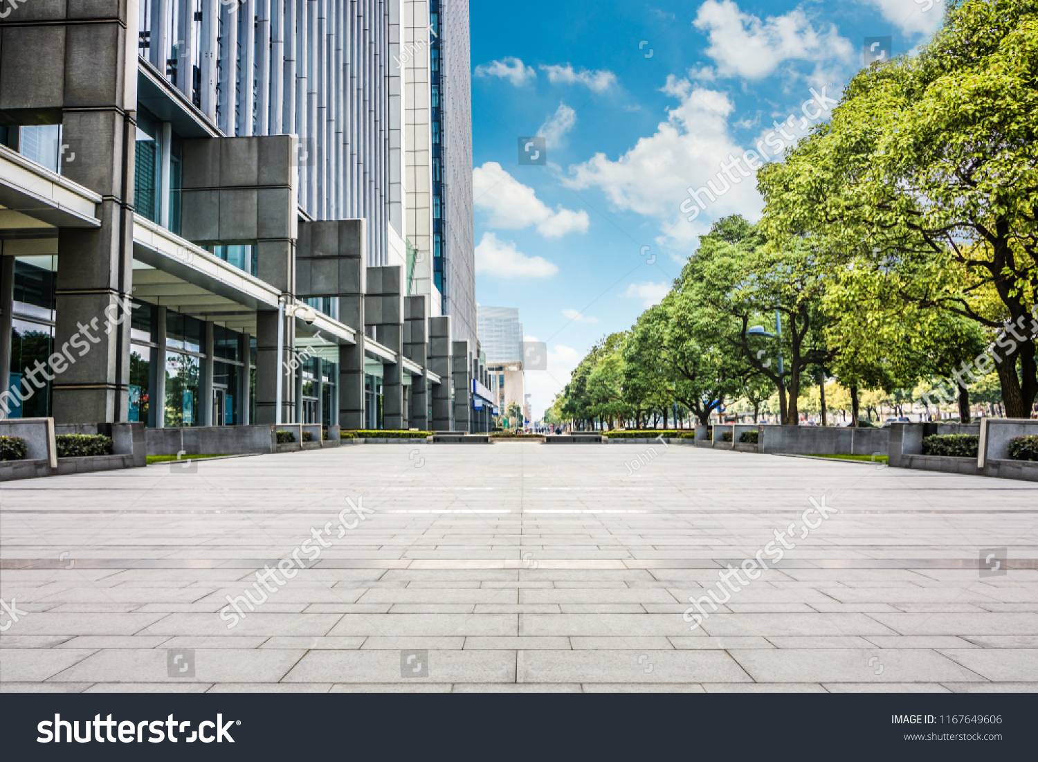 Exterior Modern Small Office Building Buildings Landmarks Stock Image 1167649606