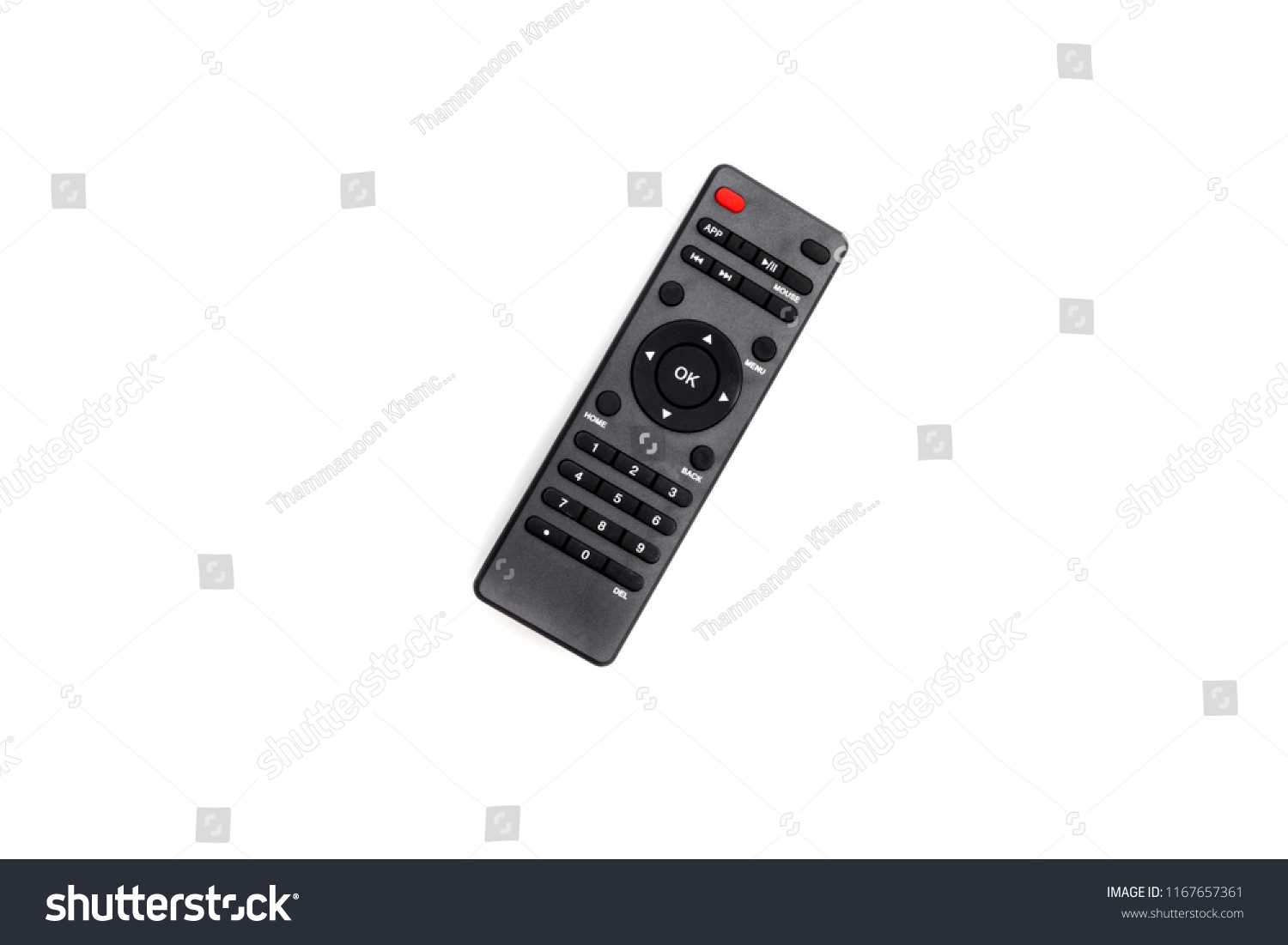 Infrared Remote Control Tv Satellite Receiver Stock Photo Edit Now For Isolated On White Backgrounda Is