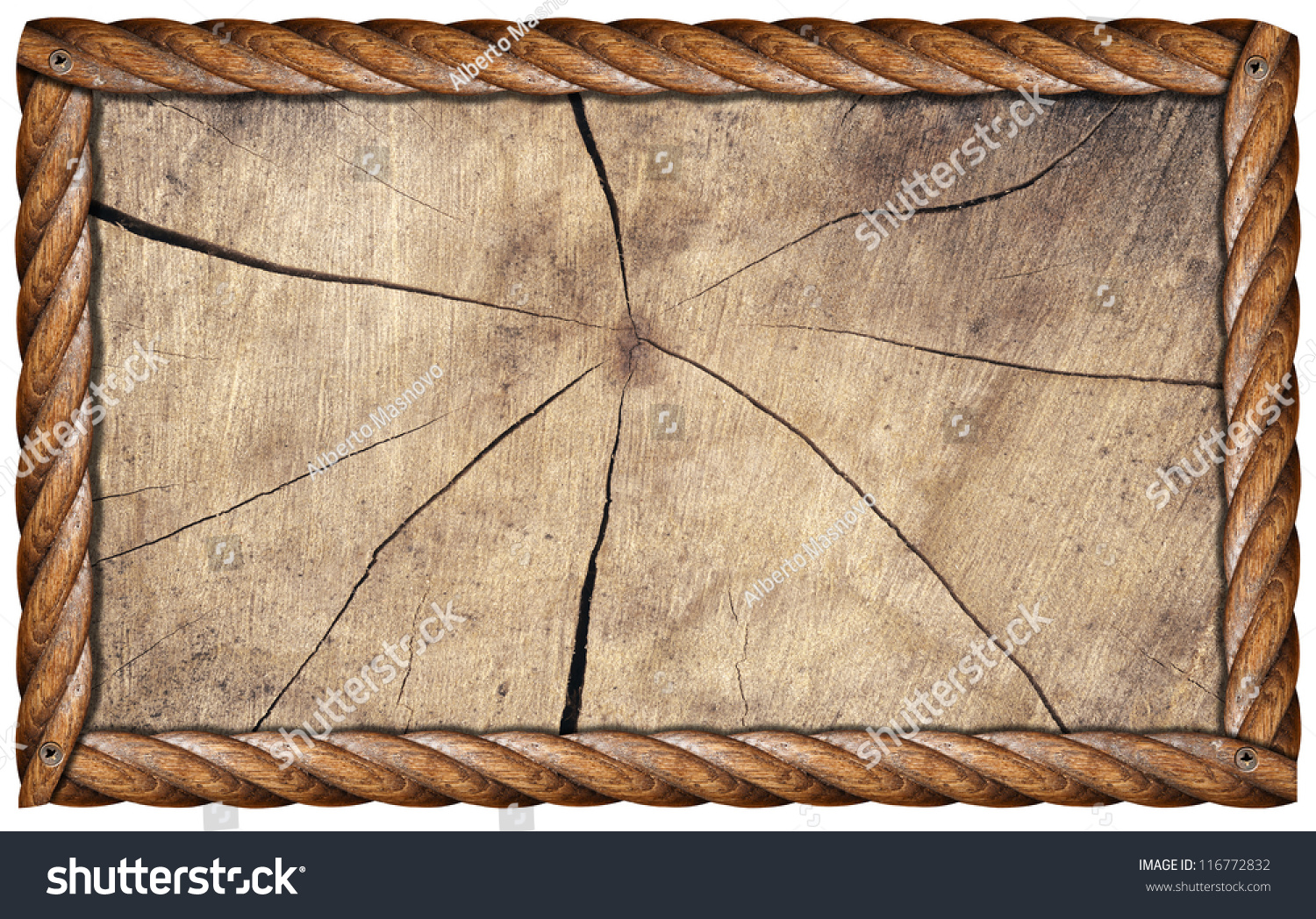 grunge wooden frame rectangular empty wooden frame isolated on white background