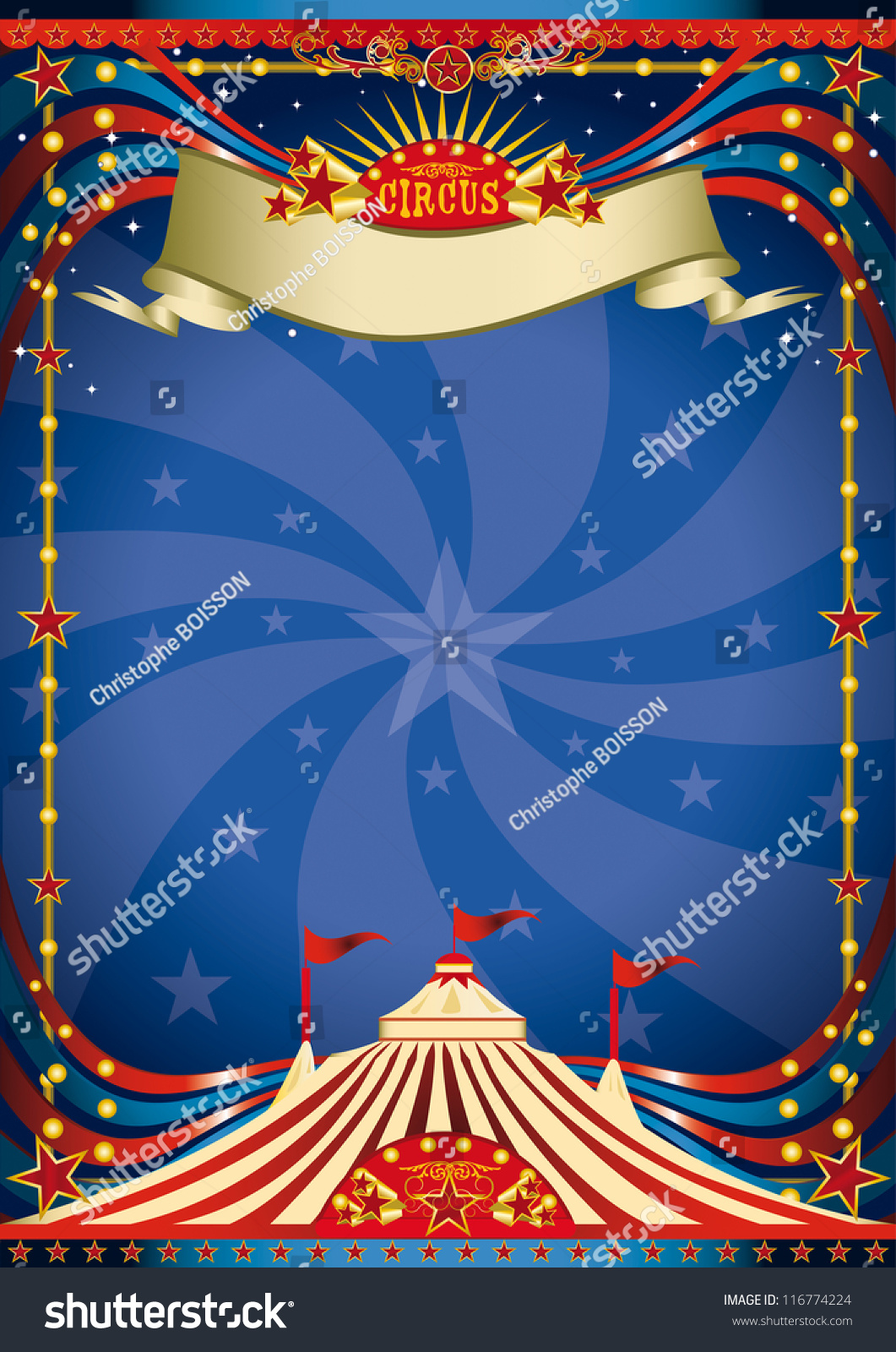 Circus night poster a blue circus background for a poster for Circus posters free