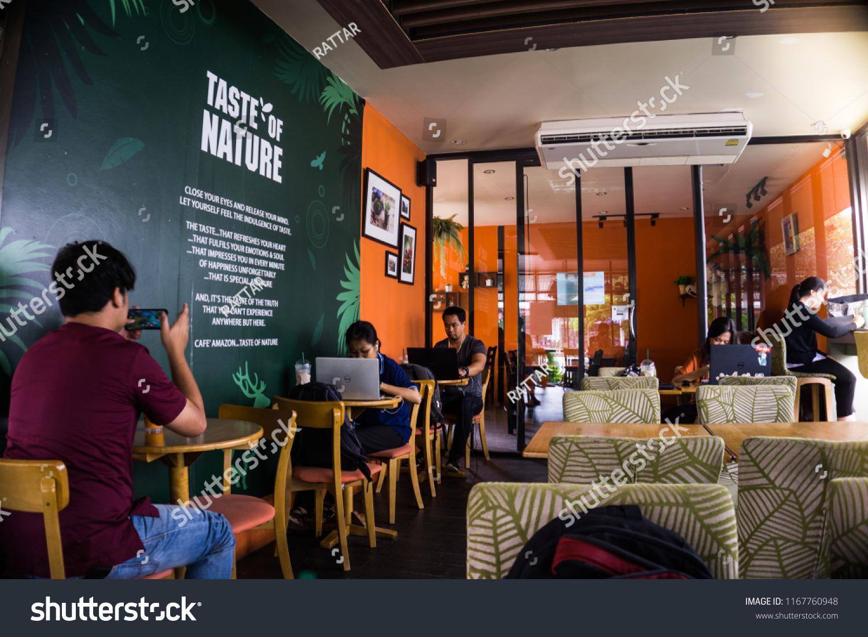 Khon Kean University Thailand July 31, 2018 : Cafe Amazon cafeteria and restaurant.,