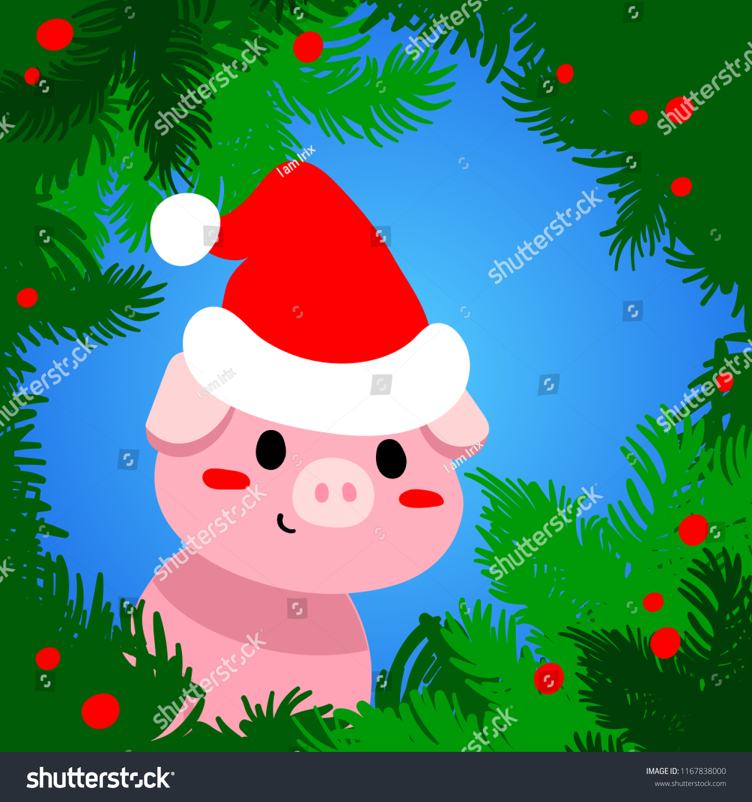 Vector Illustration Flat Pig Sign New Stock Vector (Royalty Free ...