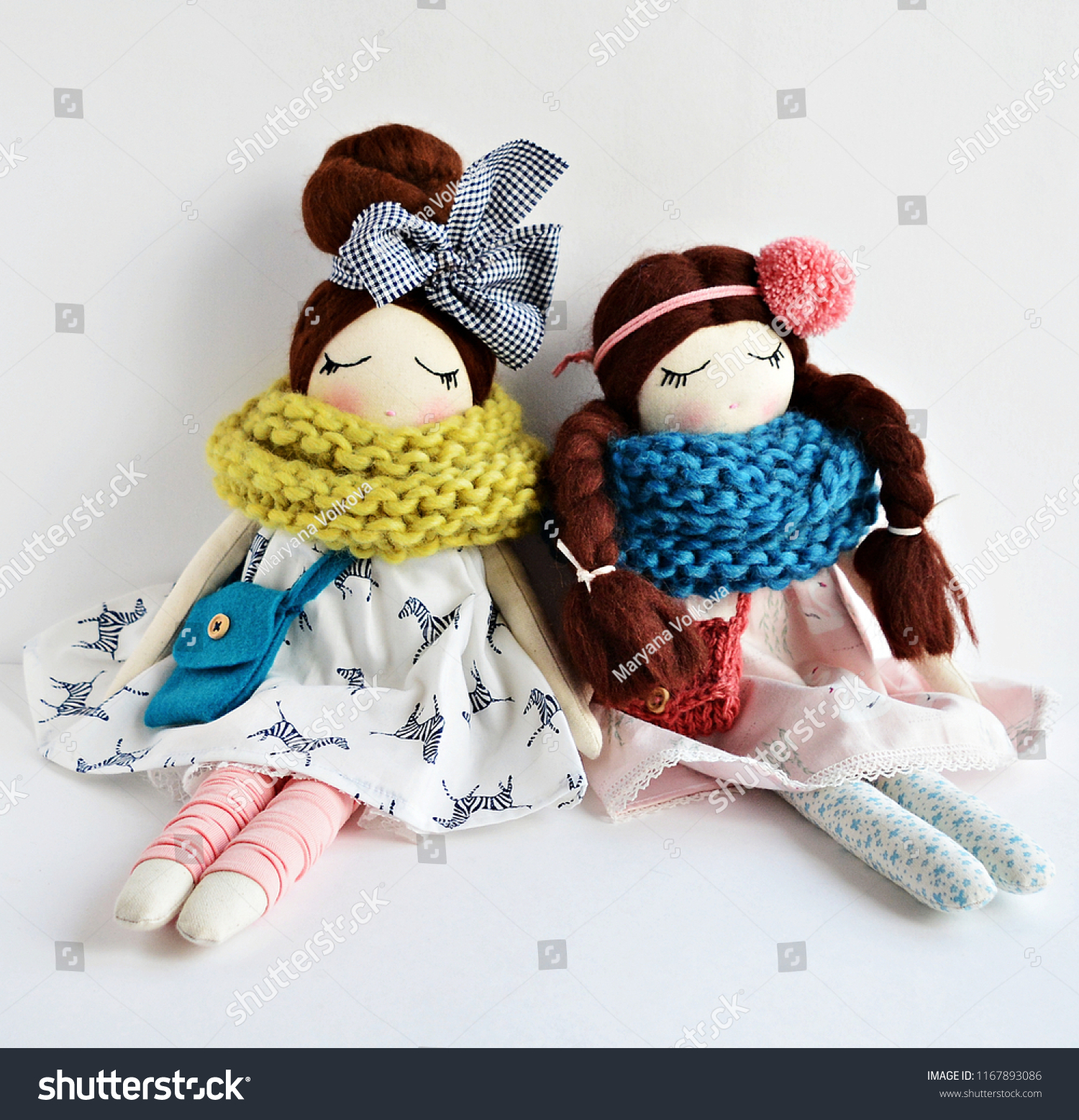 Cute Funny Fabric Dolls Warm Knitting Stock Photo Edit Now 1167893086