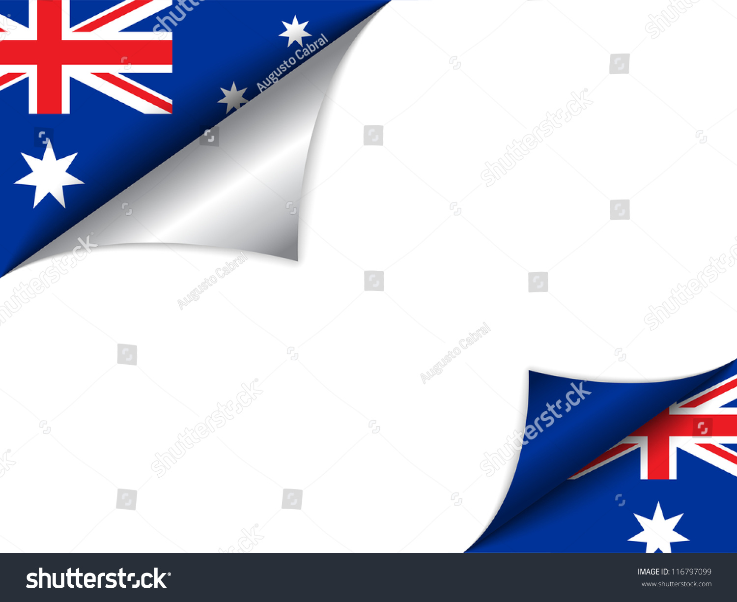 vector australia country flag turning page stock vector 116797099