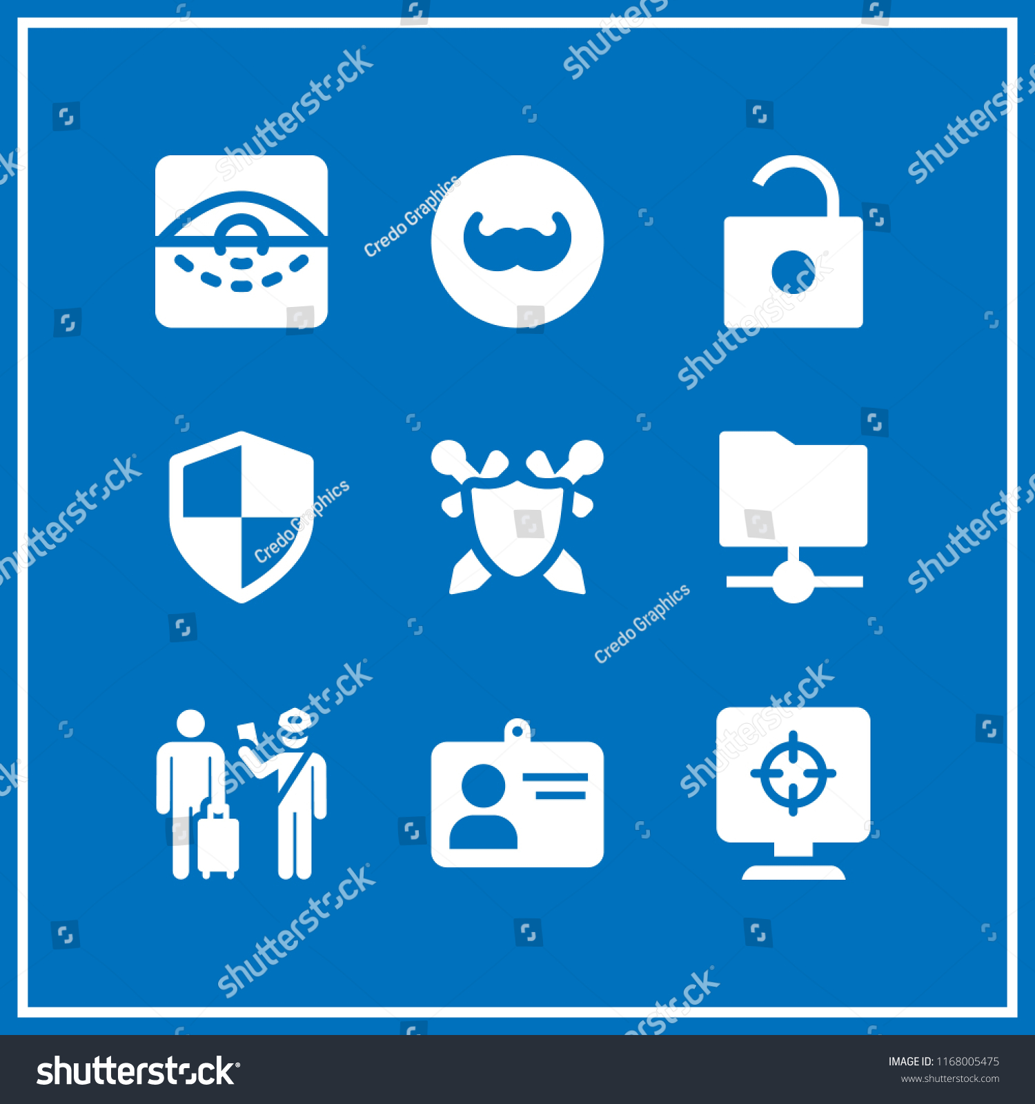 identity icon 9 identity vector set stock vector royalty free 1168005475 shutterstock