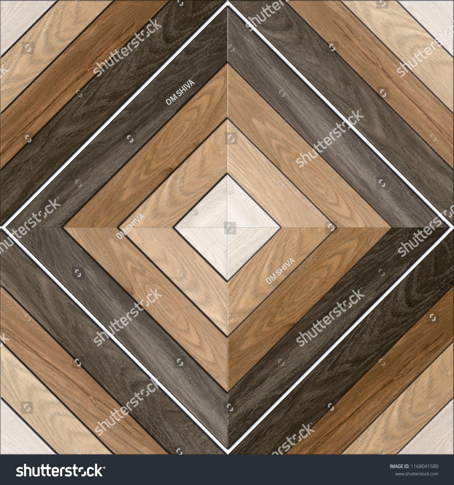 Geometric Pattern Wooden Floor Wall Mosaic Stock Photo Edit Now ...