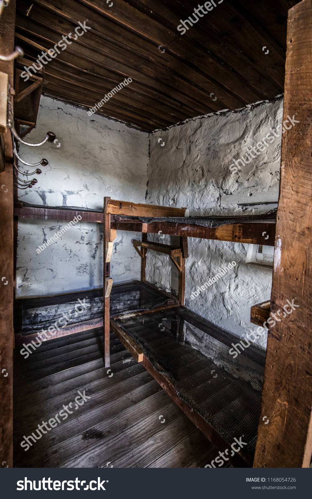 Picture of: Bunk Beds Inside Old Andean Mountain Stock Photo Edit Now 1168054726