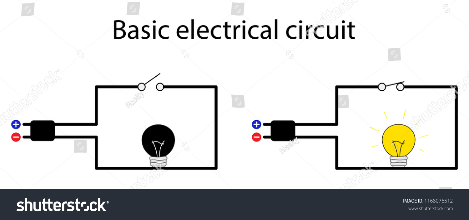 illustration of physics, A circuit diagram is a graphical representation of  an electrical circuit,