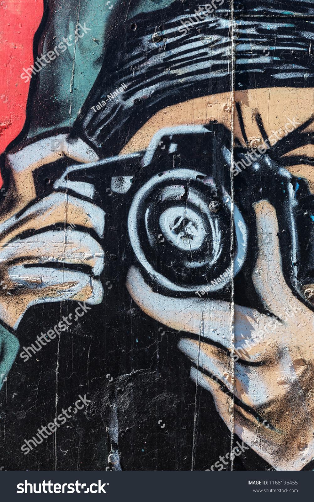 Beautiful Street Art Graffiti Abstract Creative Stock Photo