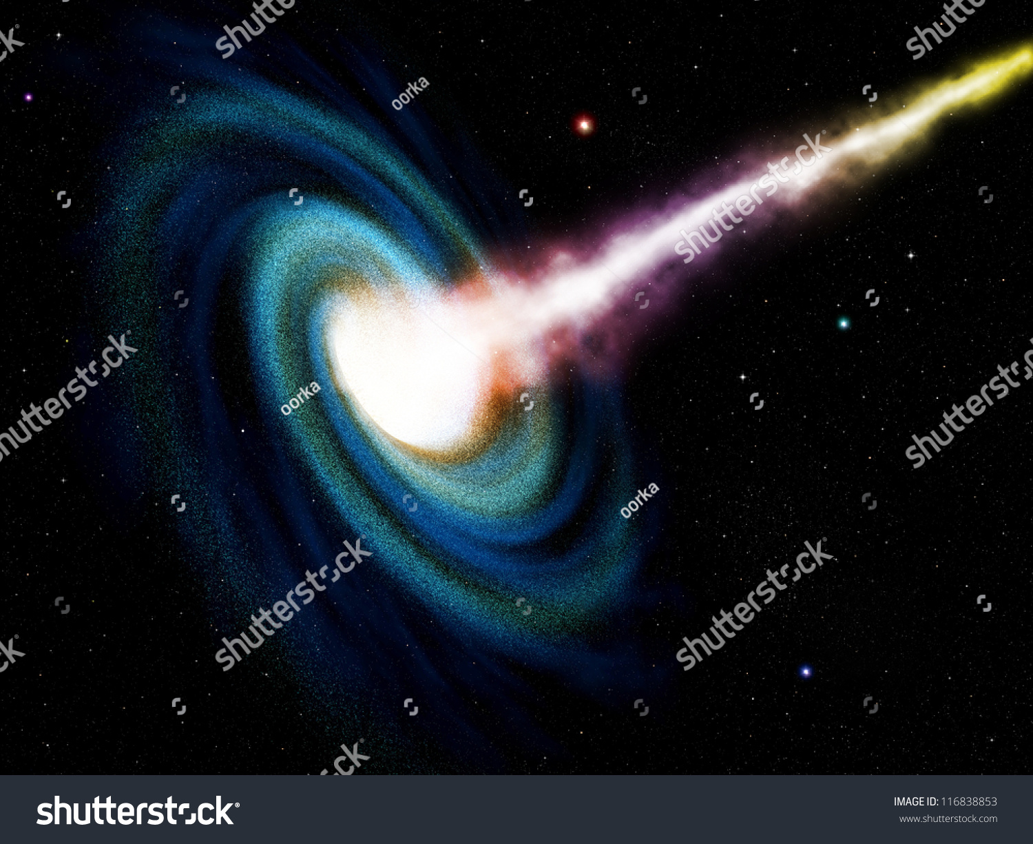 Computer Generated Black Hole Swallowing Galaxy Stock ...
