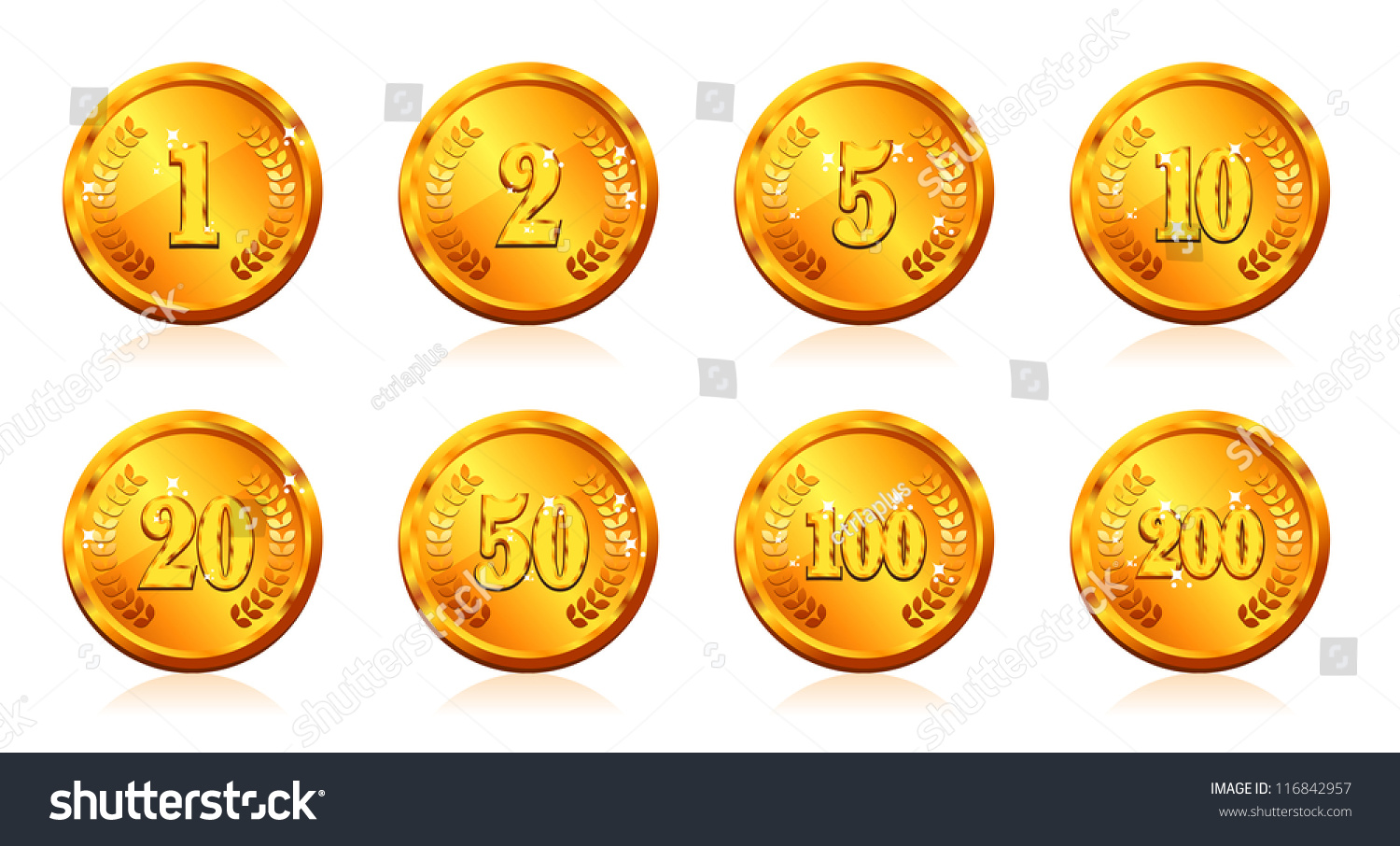 Gold coins many price vector stock vector 116842957 shutterstock gold coins with many price in vector buycottarizona