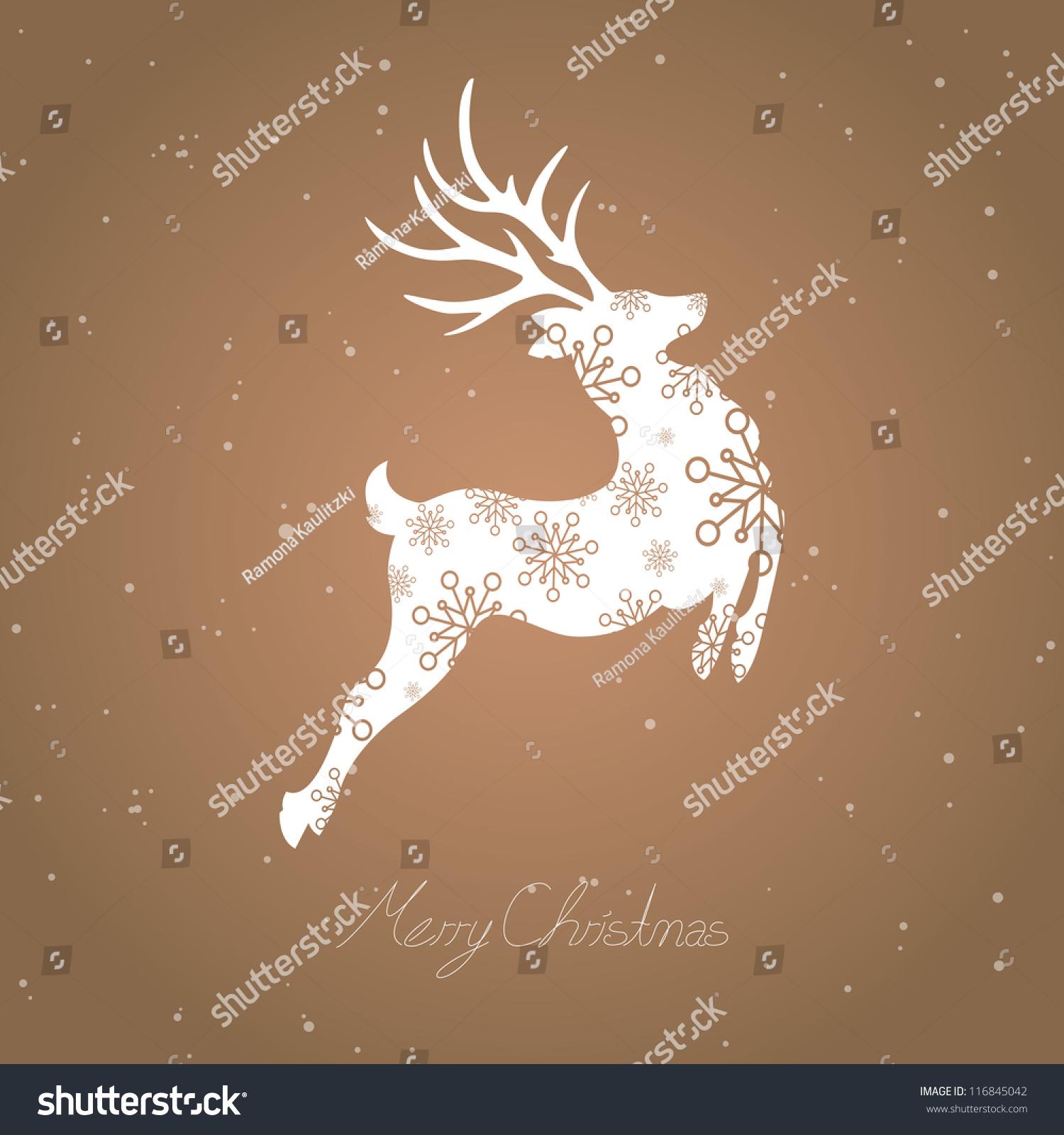 Vector Illustration Abstract Christmas Reindeer Stock ...