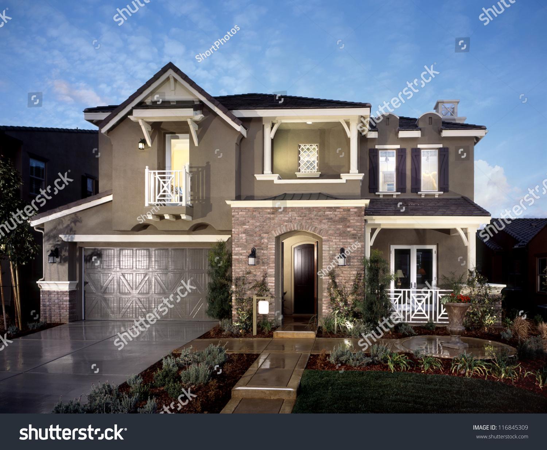 New Home House Development United States Stock Photo 116845309 ... - ^