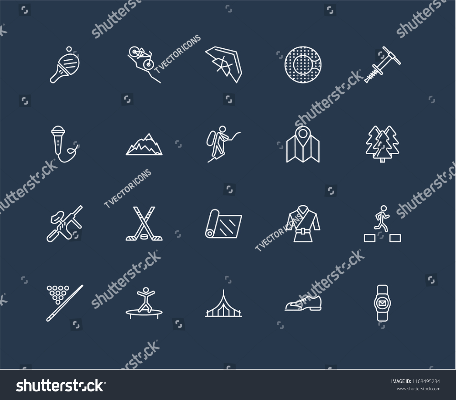 Set 20 Black Linear Icons Such Stock Vector (Royalty Free) 1168495234