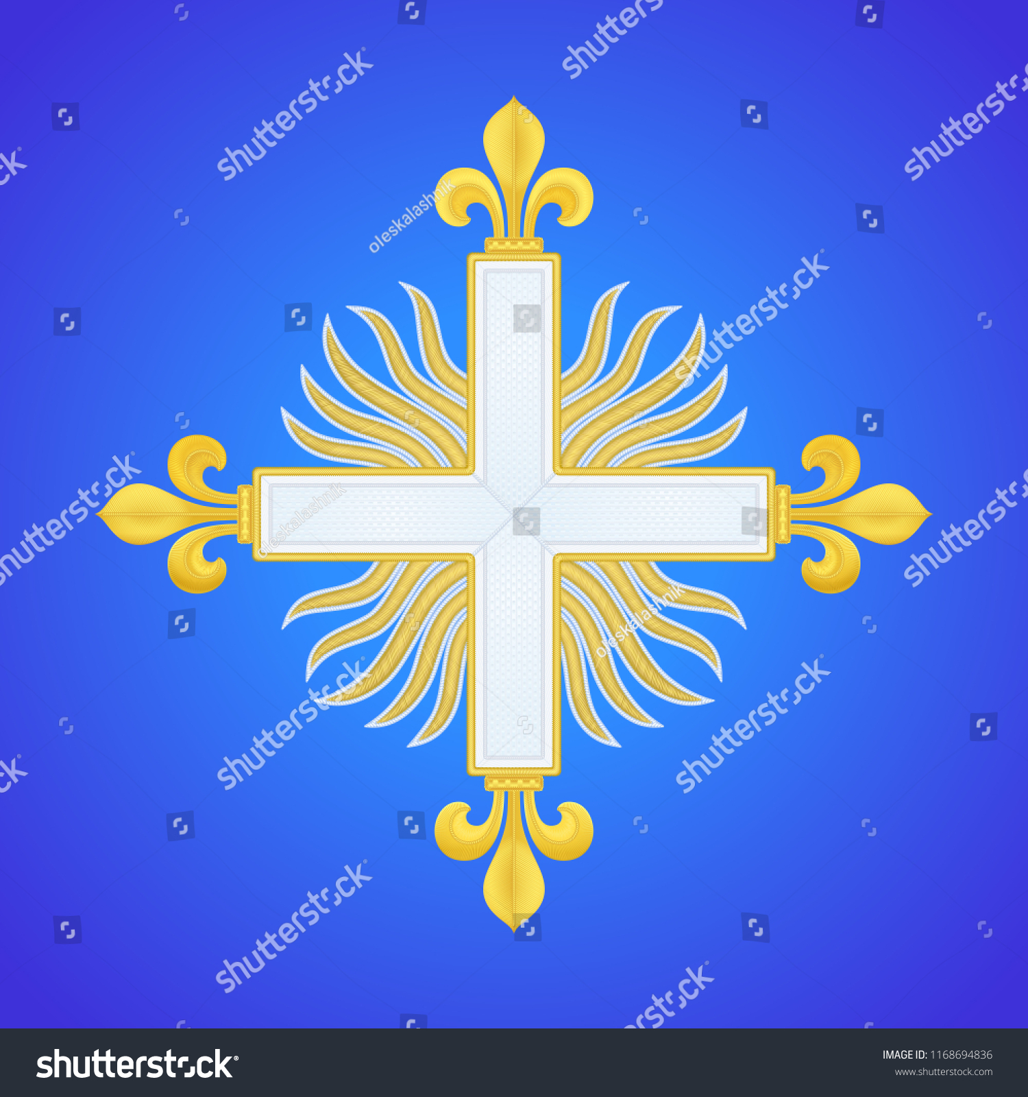 Musketeer Cross Fleury 2nd Company Sign Stock Vector Royalty Free