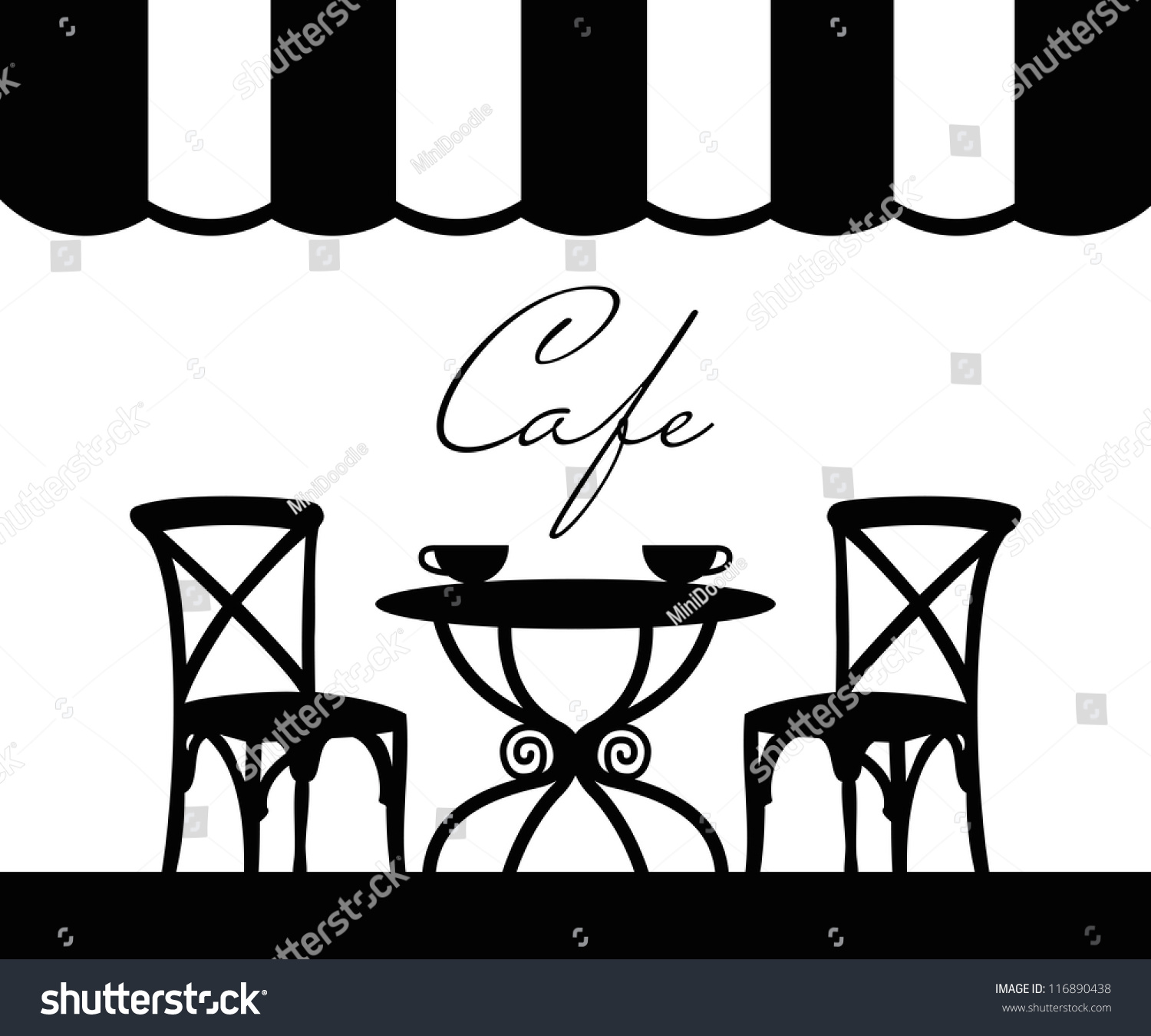 Vector Street Cafe French Stock 116890438