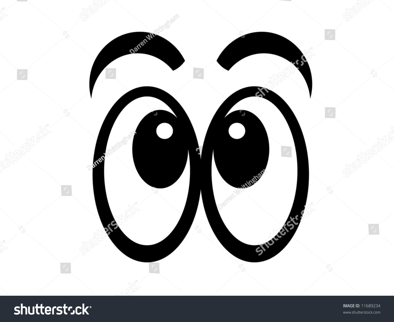 Illustration Of Black And White Cartoon Eyes 11689234 : Shutterstock