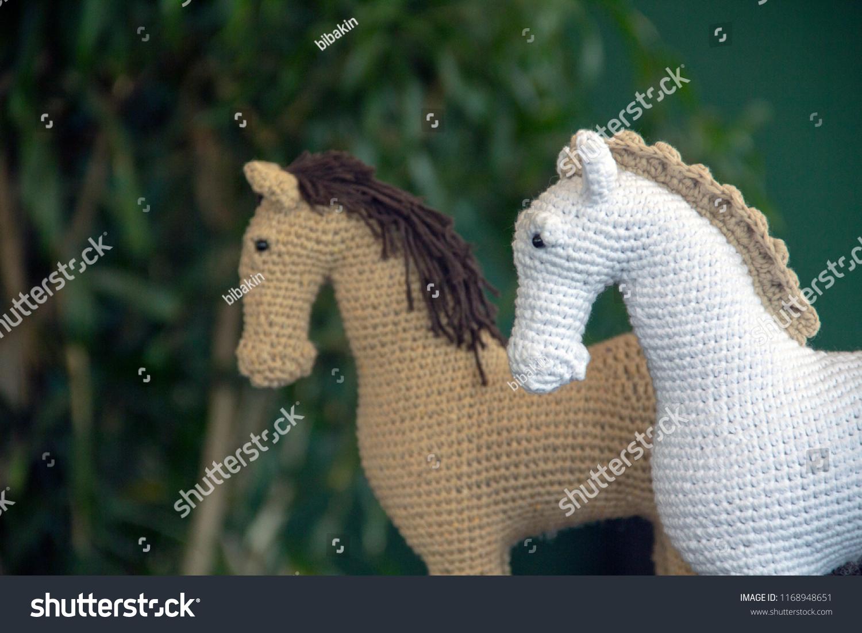 Crochet Pattern for Winter horse souvenir and applique. Amigurumi ... | 1101x1500