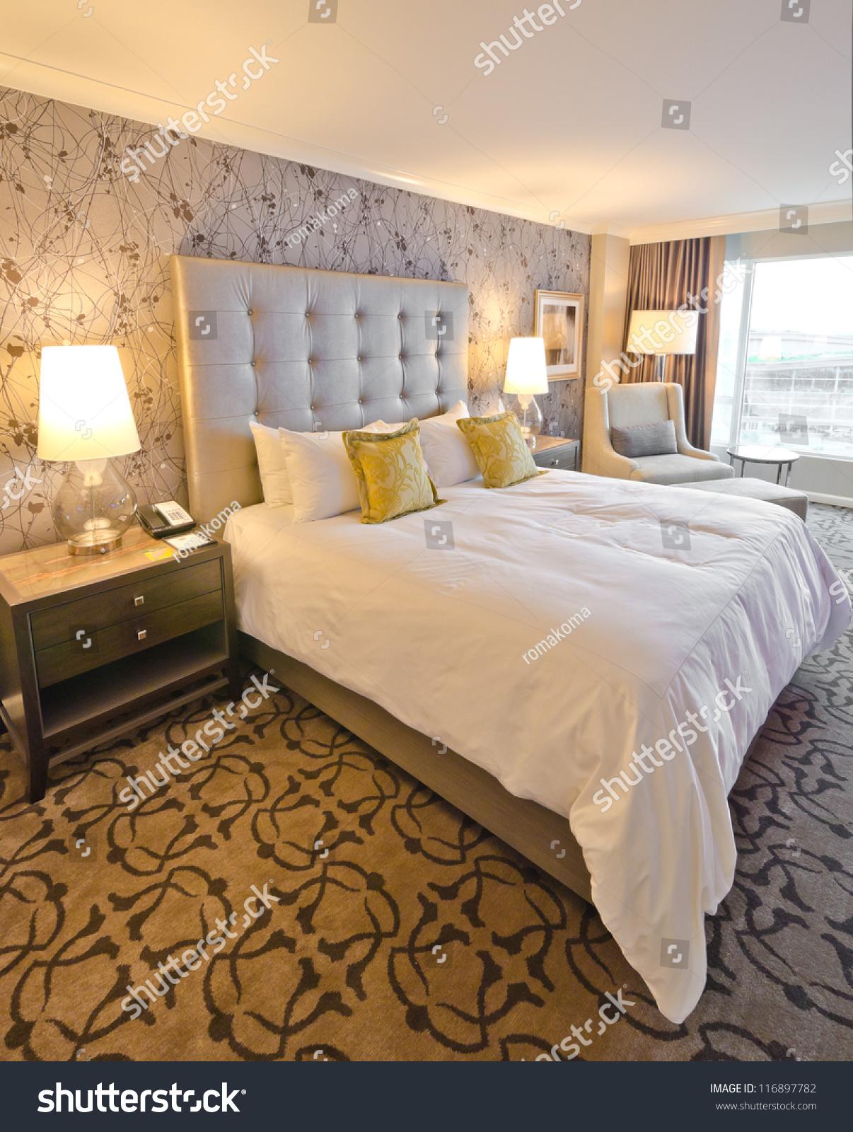 Modern Luxury Bedroom Modern Luxury Bedroom Interior Design Stock Photo 116897782