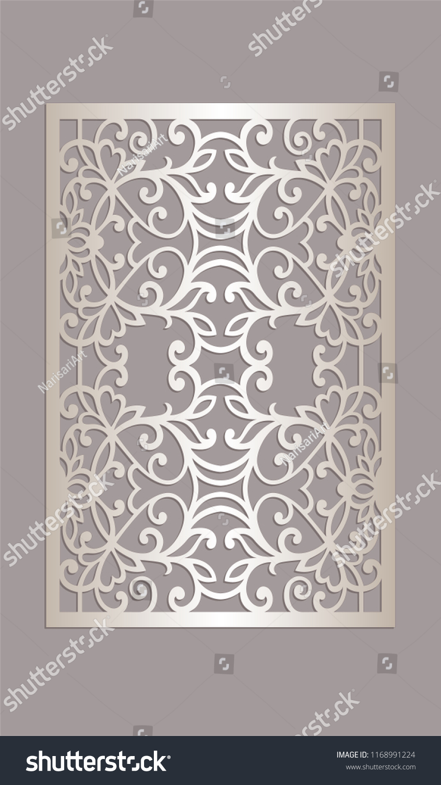 Decorative Panel Design Laser Cutting Machines Stock Vector Royalty