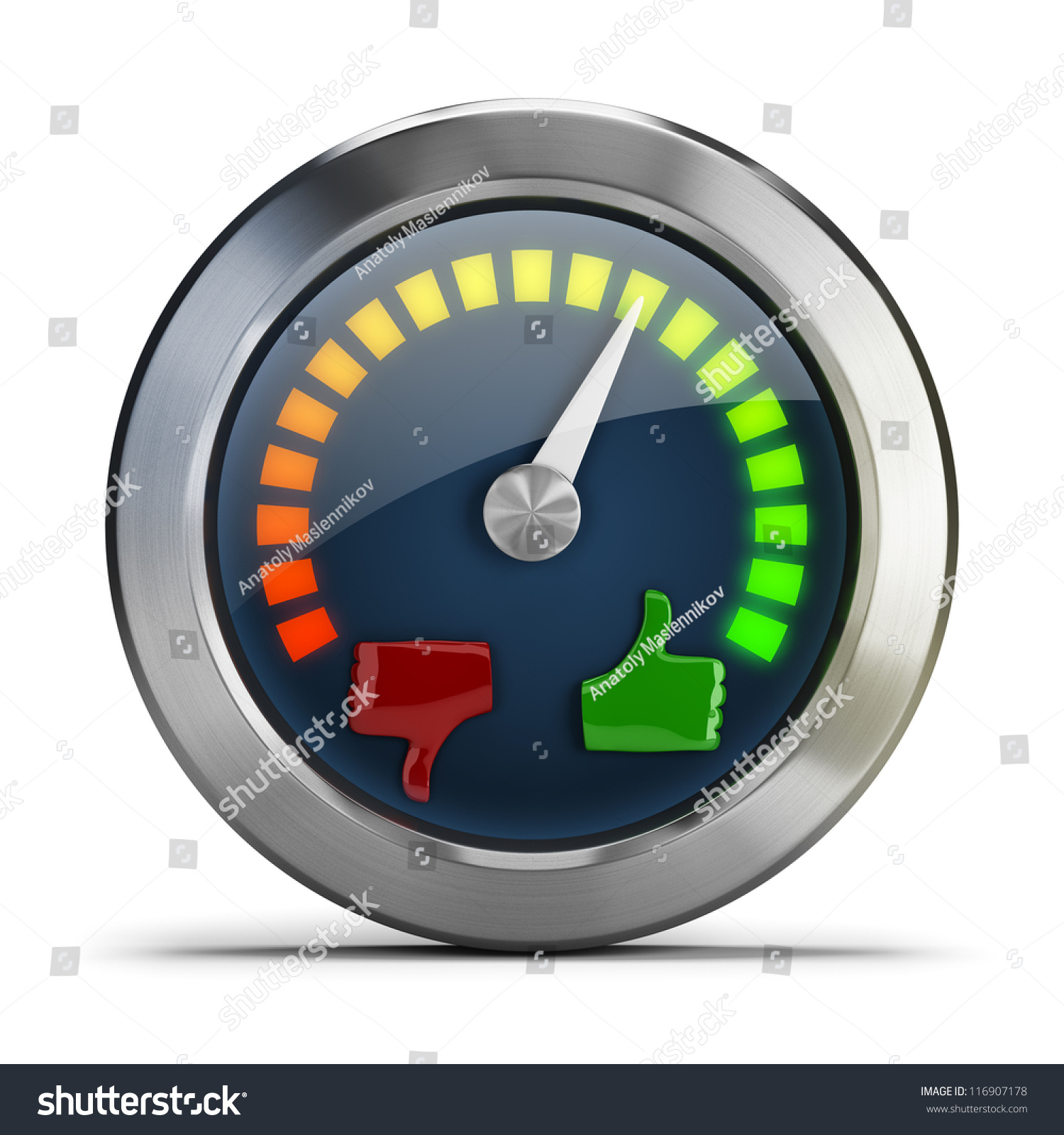 Mood Meter 3d Image Isolated White Stock Illustration ...