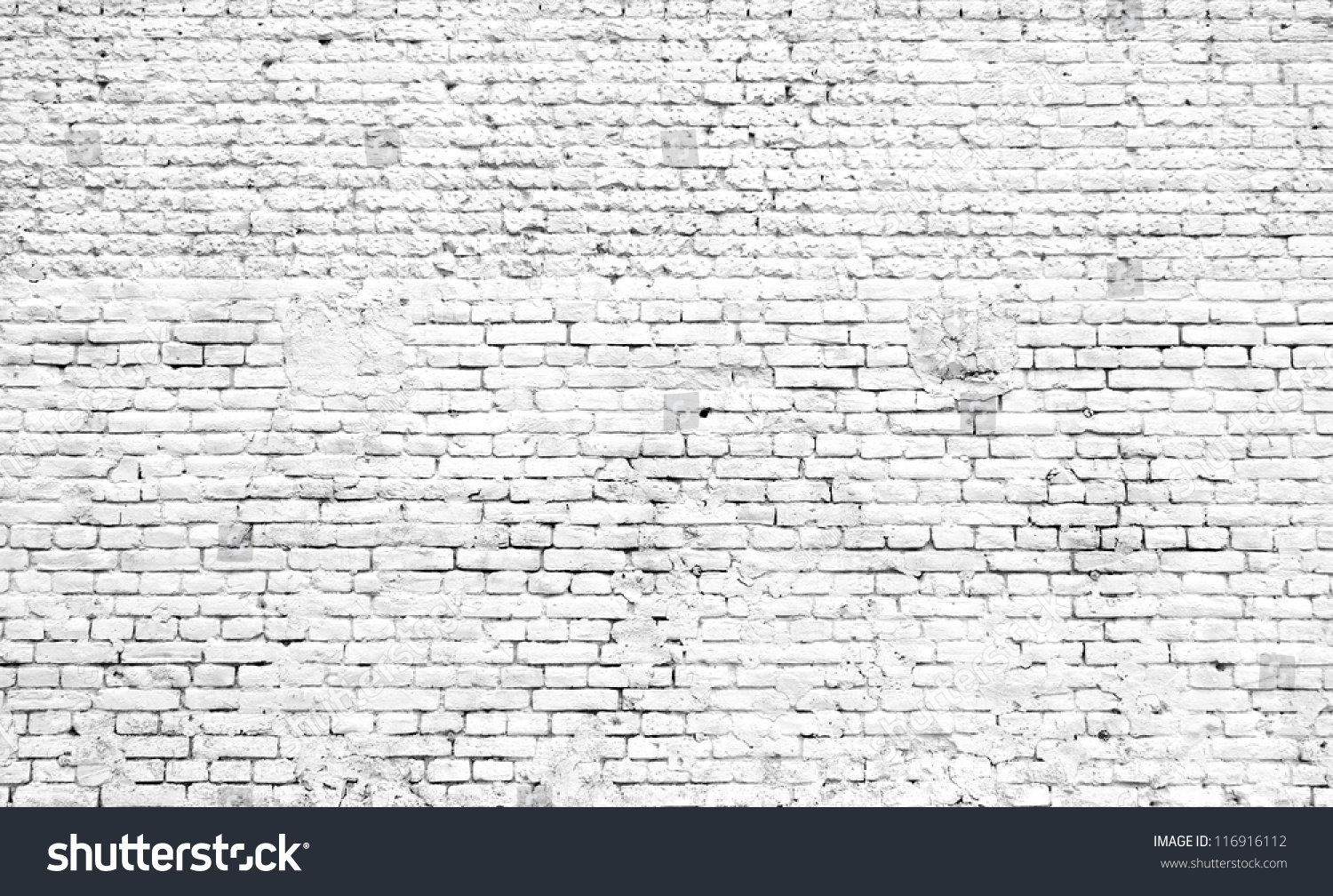 White Old Brick Wall Stock Photo 116916112 Shutterstock