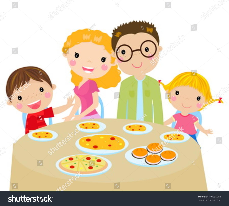 family eating clip art - HD1260×1300