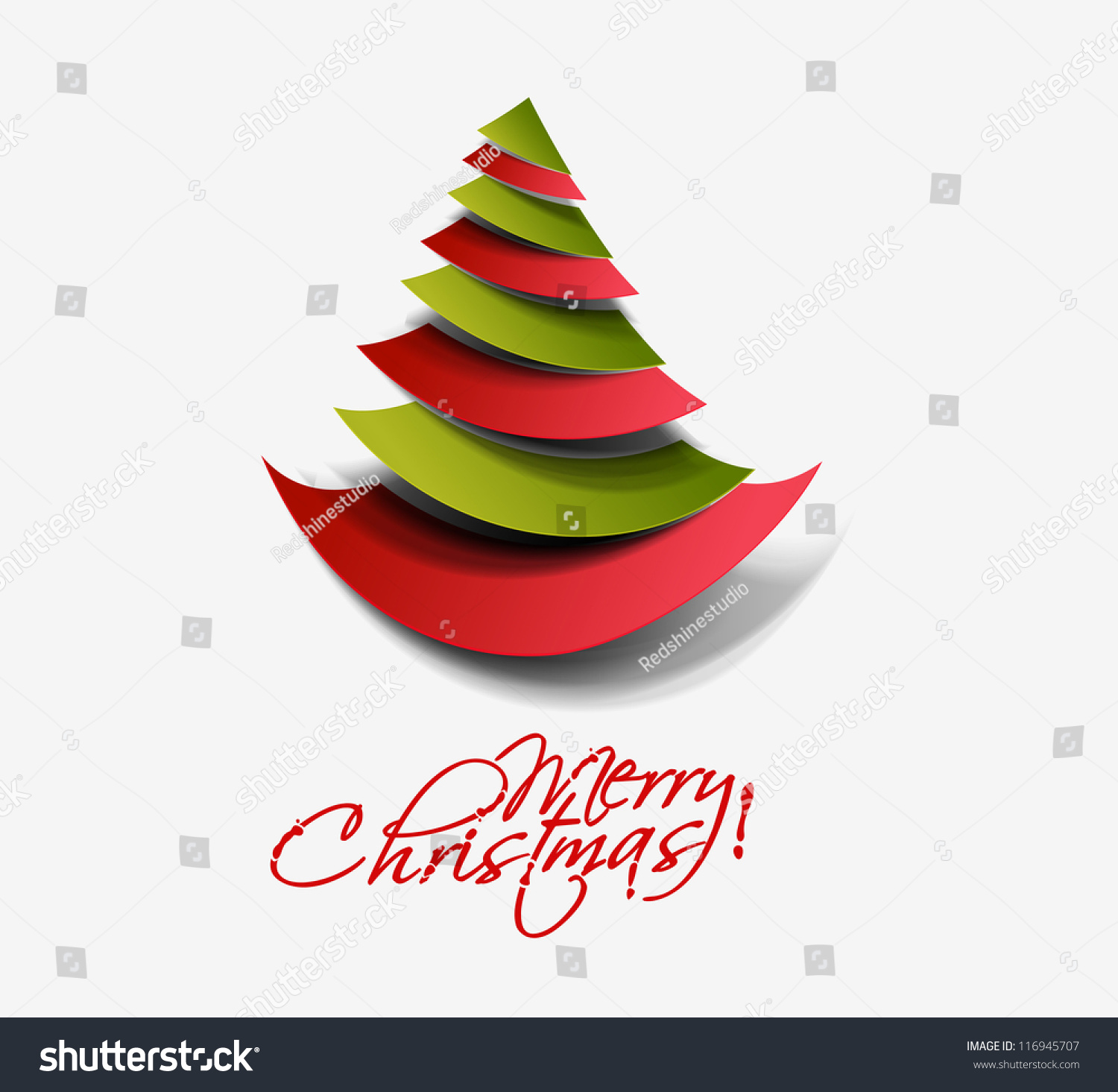 Modern Abstract Christmas Tree Background Vector Stock ...