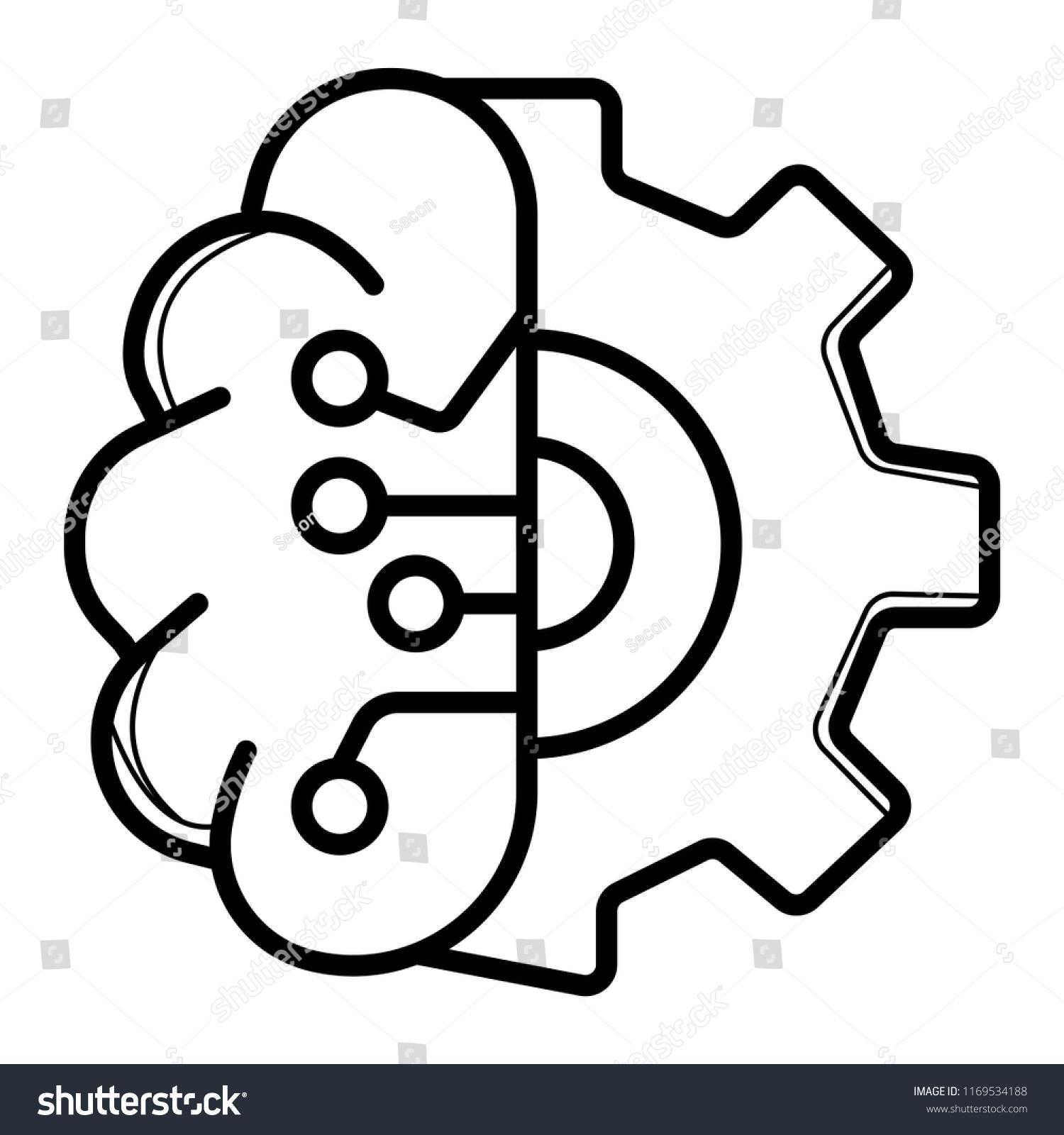 brain tech icon vector illustration stock vector royalty free ID Card Poland brain tech icon vector illustration