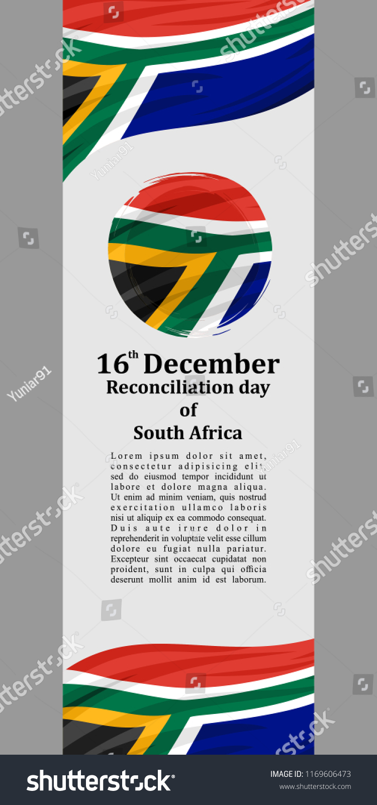Reconciliation Day South Africa Vector Illustration Stock Vector