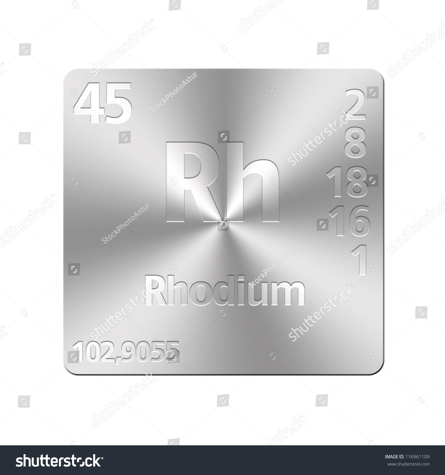 Isolated metal button periodic table rhodium stock illustration isolated metal button with periodic table rhodium gamestrikefo Image collections