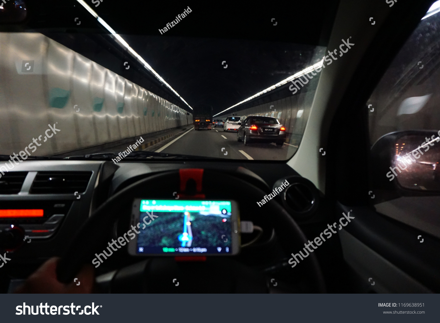 Driving Tunnel Waze Stock Photo Edit Now 1169638951 Shutterstock