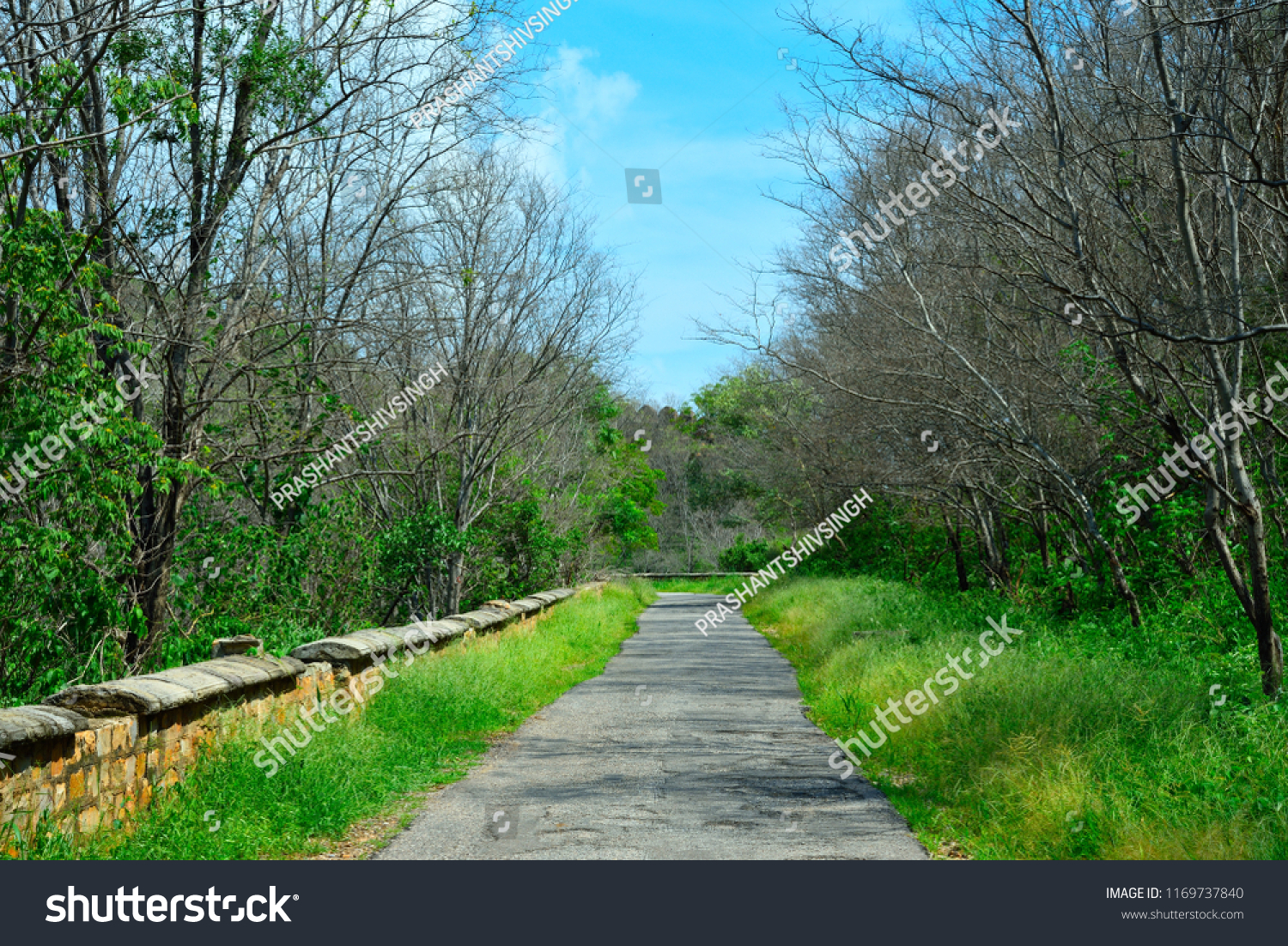 Very Beautiful Charming Road Connecting Bala Stock Photo