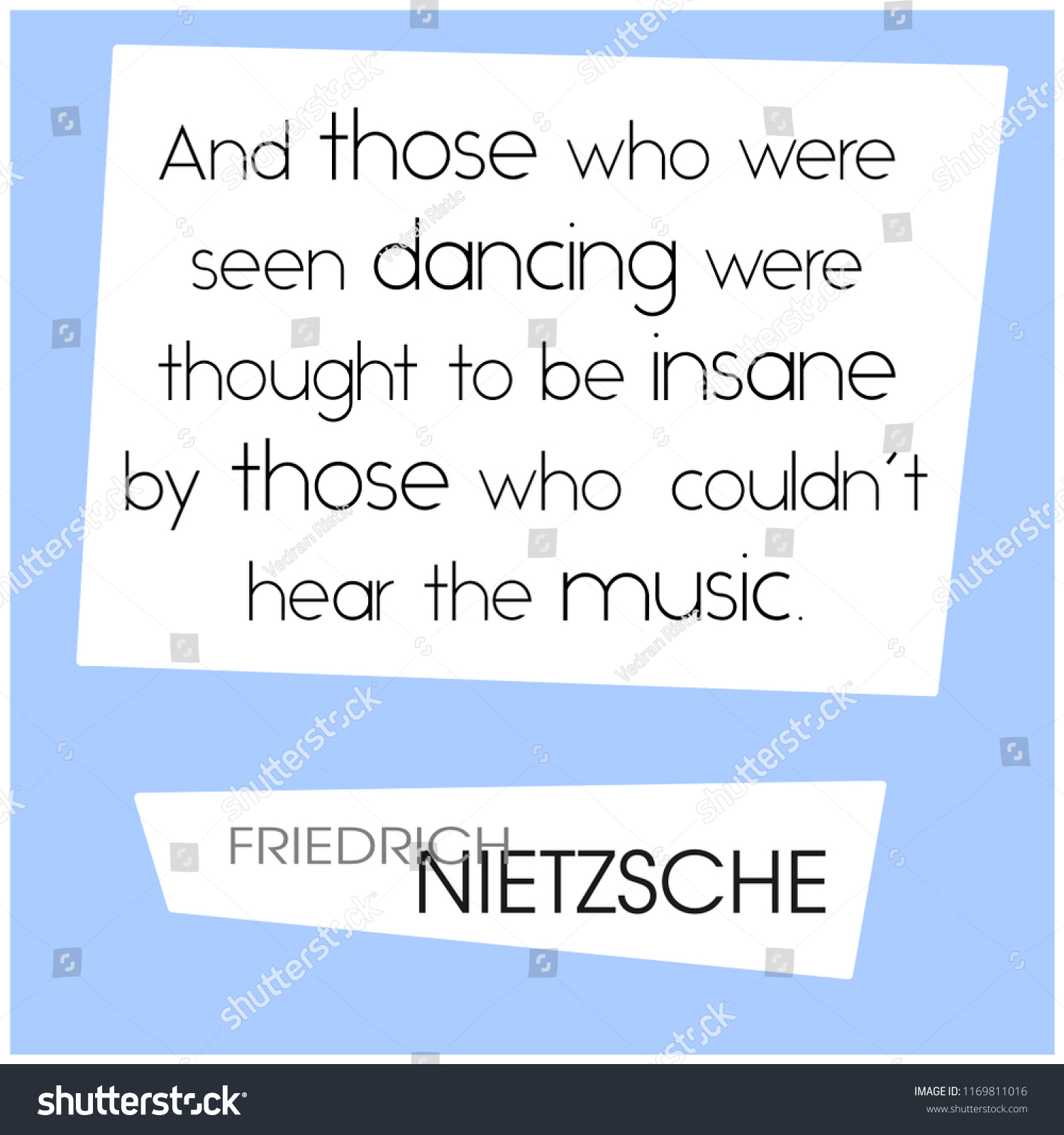 Graphic Quote By 19th Century German Stock Vector Royalty Free