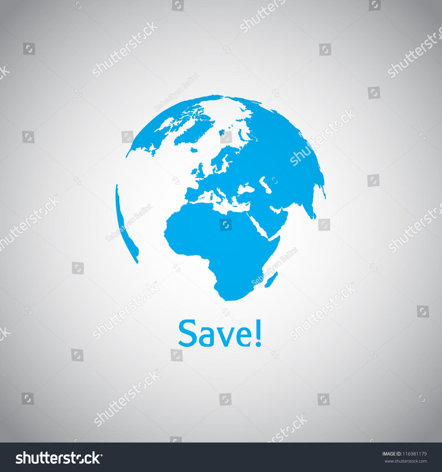 Save World Vector Symbol Stock-Vektorgrafik (Lizenzfrei) 116981179 ...