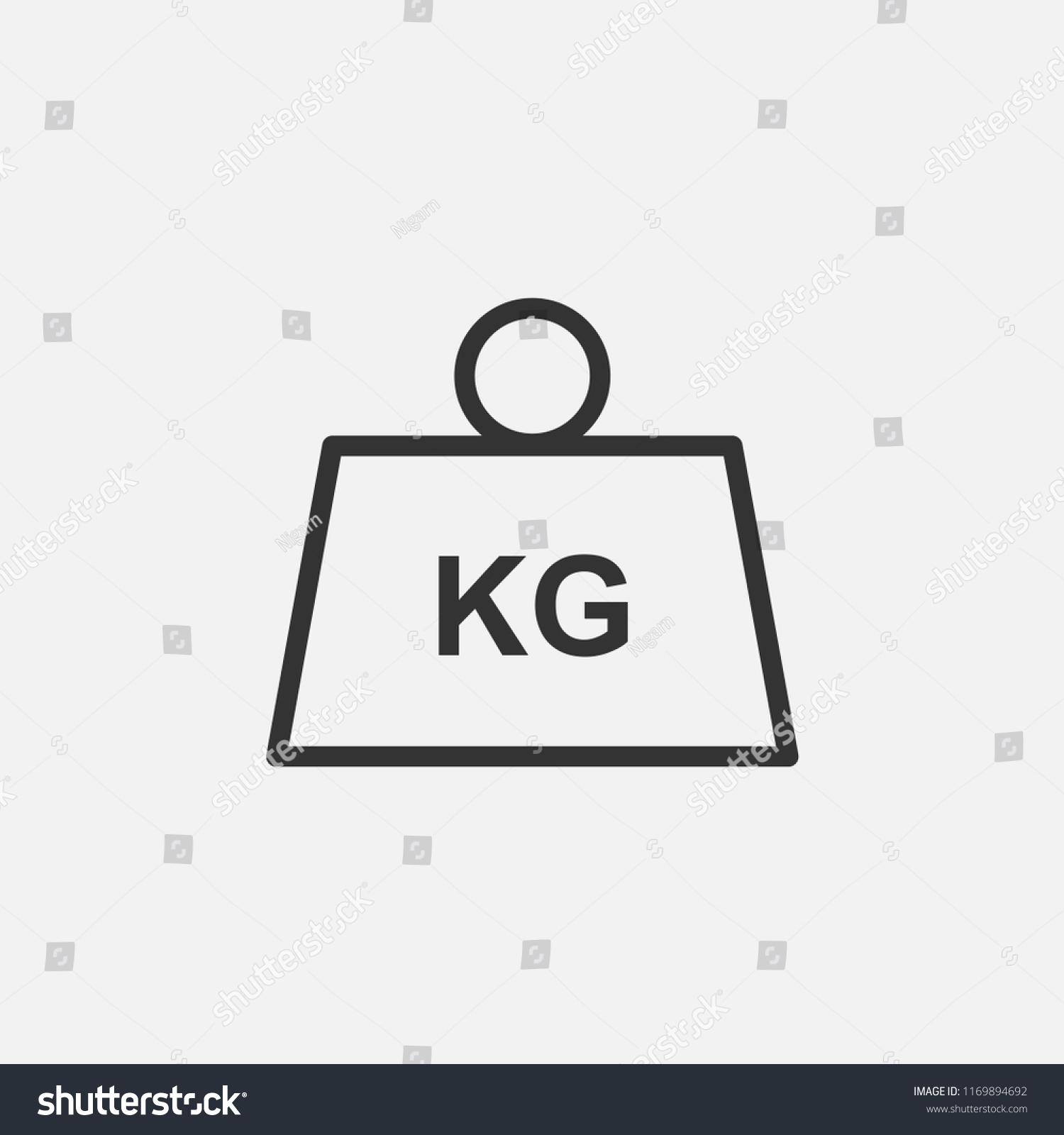 Weight Vector Iconkilogram Kg Measurement Mass Stock Vector Royalty