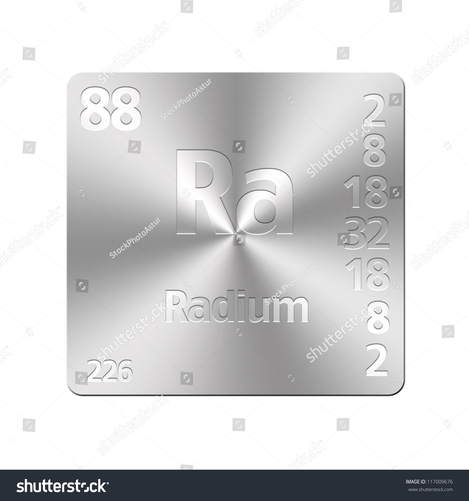 Isolated metal button periodic table radium stock illustration isolated metal button with periodic table radium gamestrikefo Images