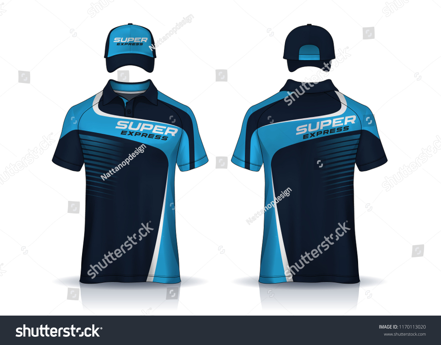 Corporate Work Shirtstshirt Polo Cap Templates Stock Vector Royalty