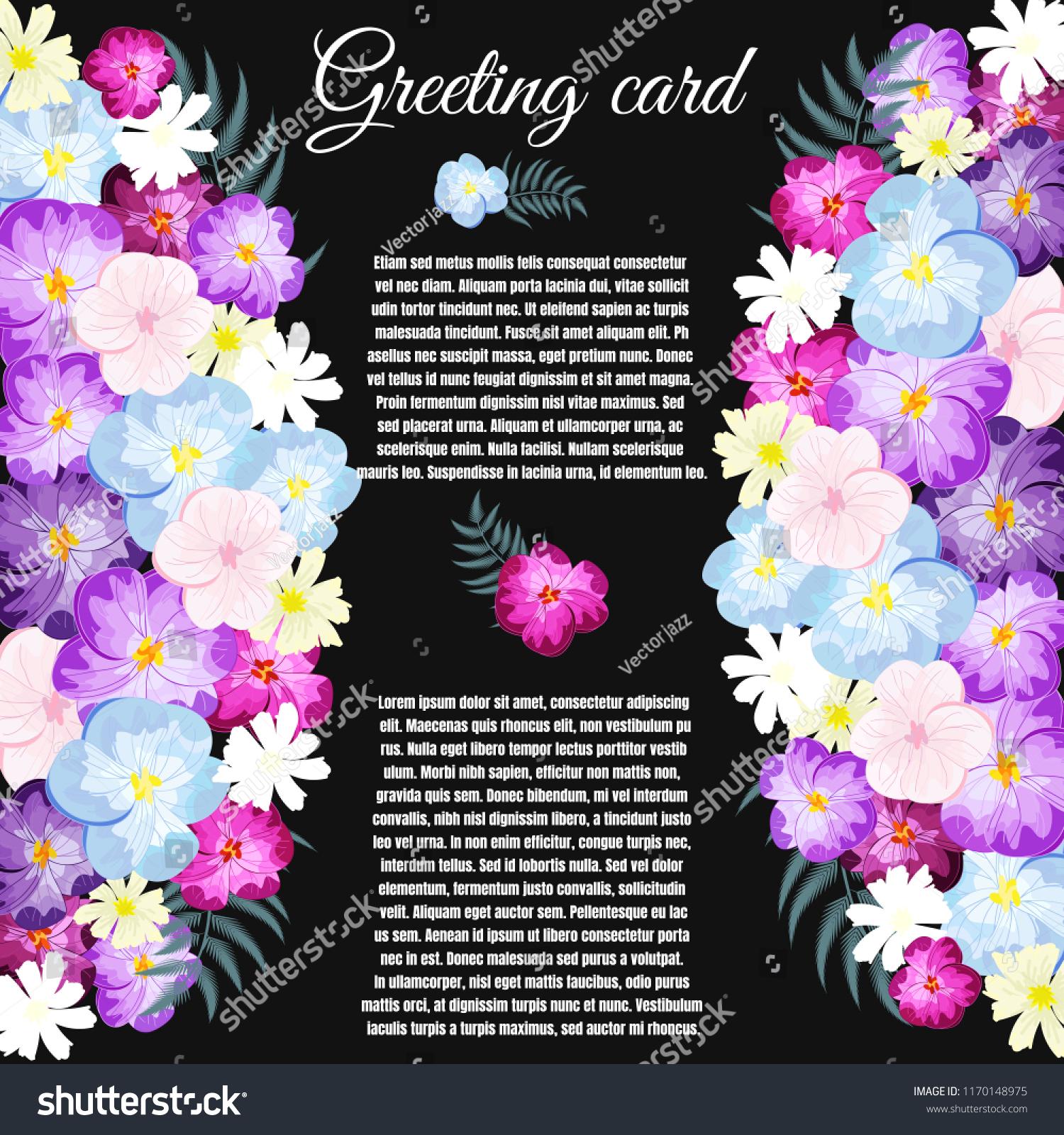 Greeting card floral wedding felicitation elegant stock vector.
